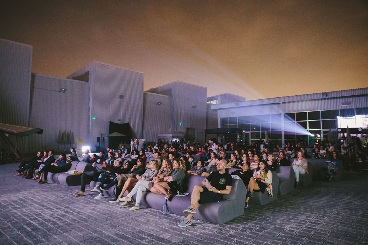 Quoz Arts Fest 2016, Documentary screening in Collaboration with Cinema Akil, The Third Line and Alserkal Avenue. Photo courtesty Angelo, Alserkal Avenue.