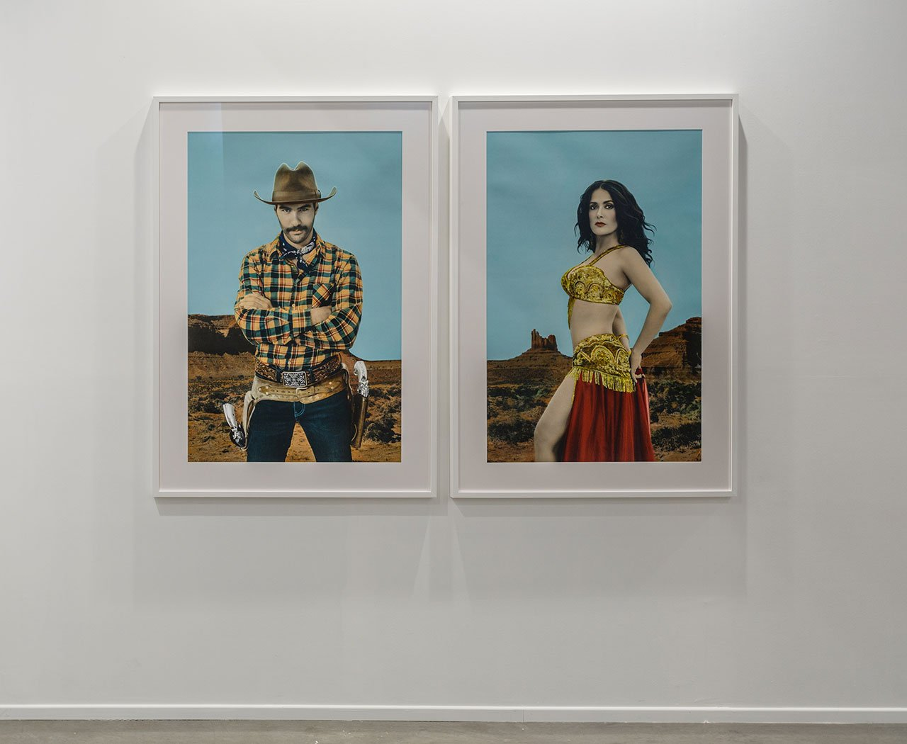 Youssef Nabil, I Saved My Belly Dancer #XXIII,2015. Installation view. Photo courtesy the artist and The Third Line gallery.