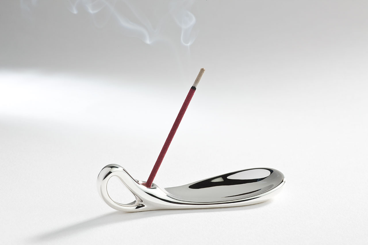 Stick Holder, silver, 2007. Photo by Alexandros Botonakis.