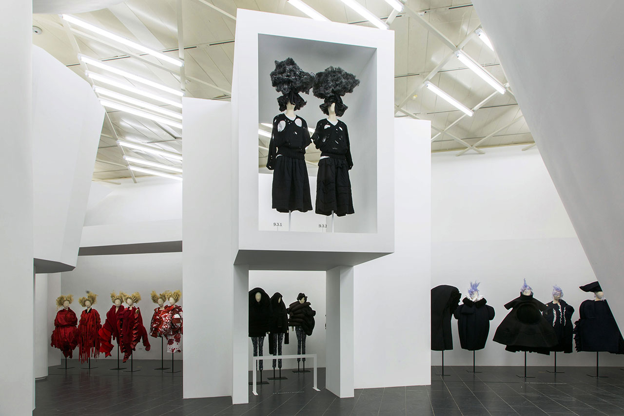 Rei Kawakubo/Comme des Garçons: Art of the In-Between. Gallery View, Clothes/Not Clothes© The Metropolitan Museum of Art.