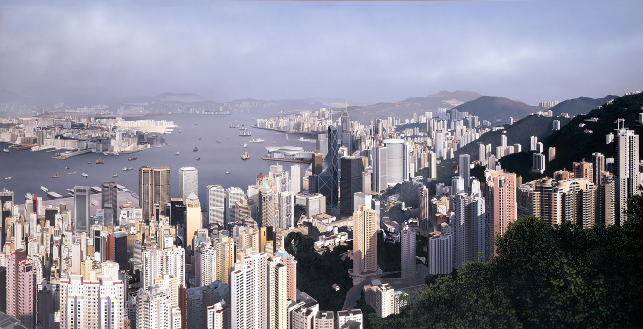 Ben Johnson Hong Kong Panorama  1997Acrylic on canvas6x12ft / 1.83x3.66m.