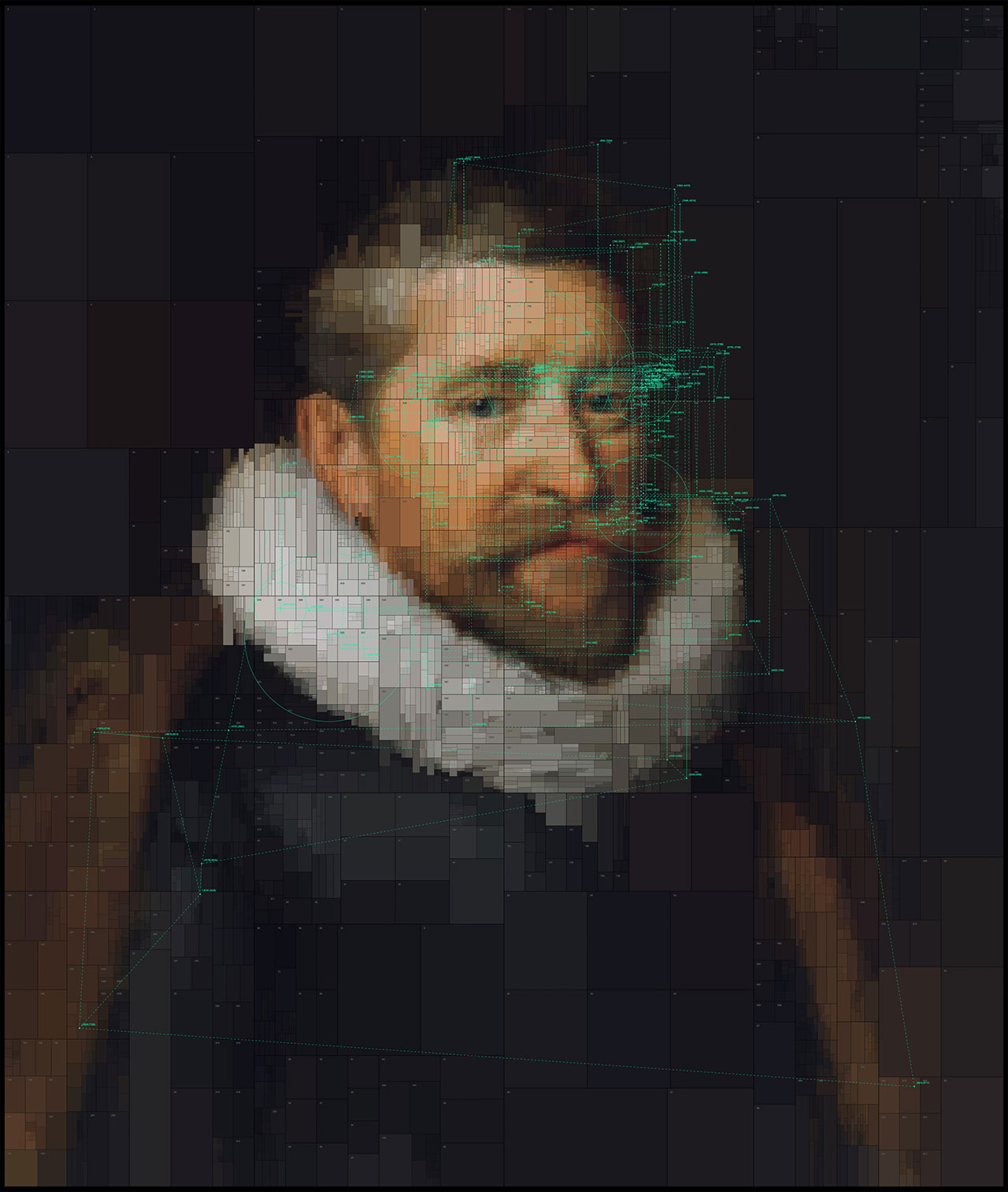 Sir Henry Wotton, from Portraits series by Dimitris Ladopoulos (Original painting by Michiel Janszoon van Mierevelt, 1620).
