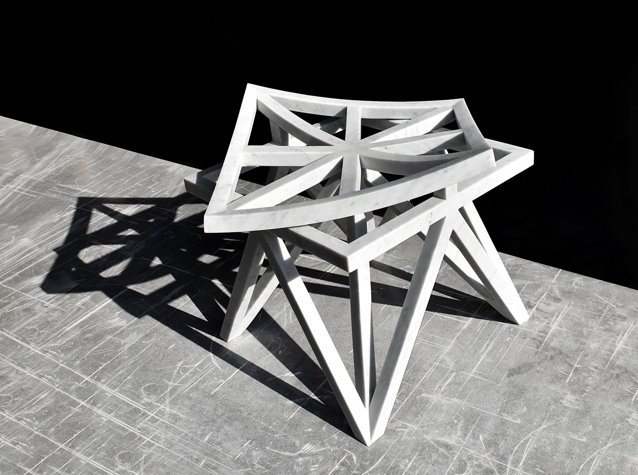 Double Square stool by Aljoud Lootah. Photo courtesy Design Days Dubai and the designer.