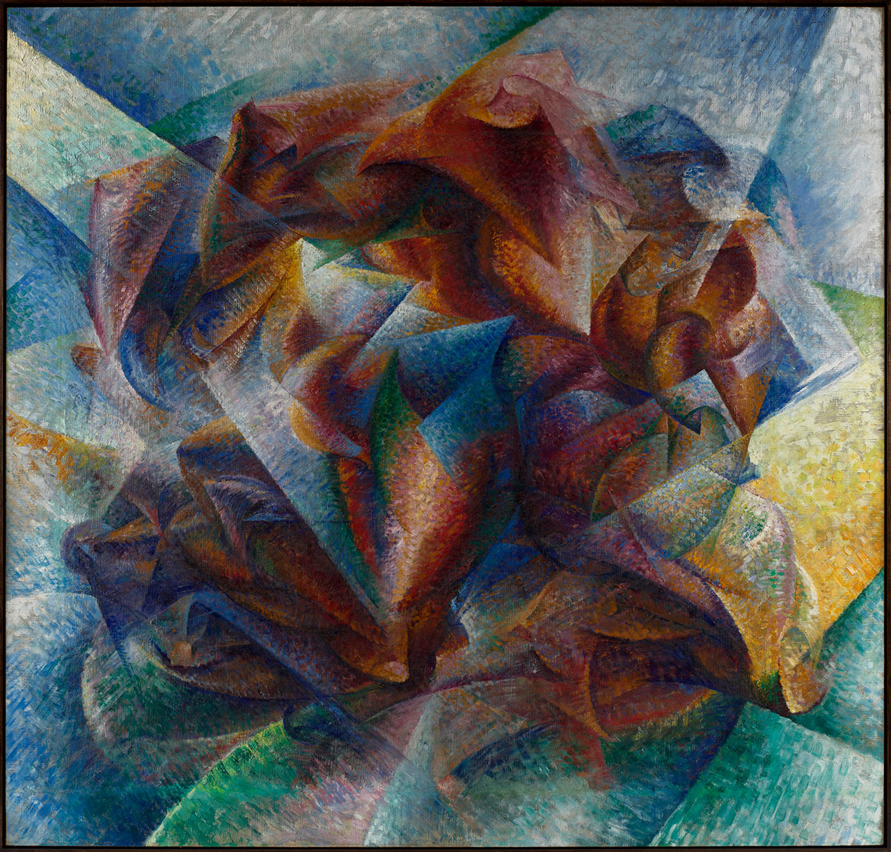 Umberto Boccioni, Dinamismo di un footballer, 1913. Oil on canvas, 93,2 x 201cm. Museum of Modern Art (MoMA), New York © 2017. Digital Image, The Museum of Modern Art, New York / Scala, Firenze.