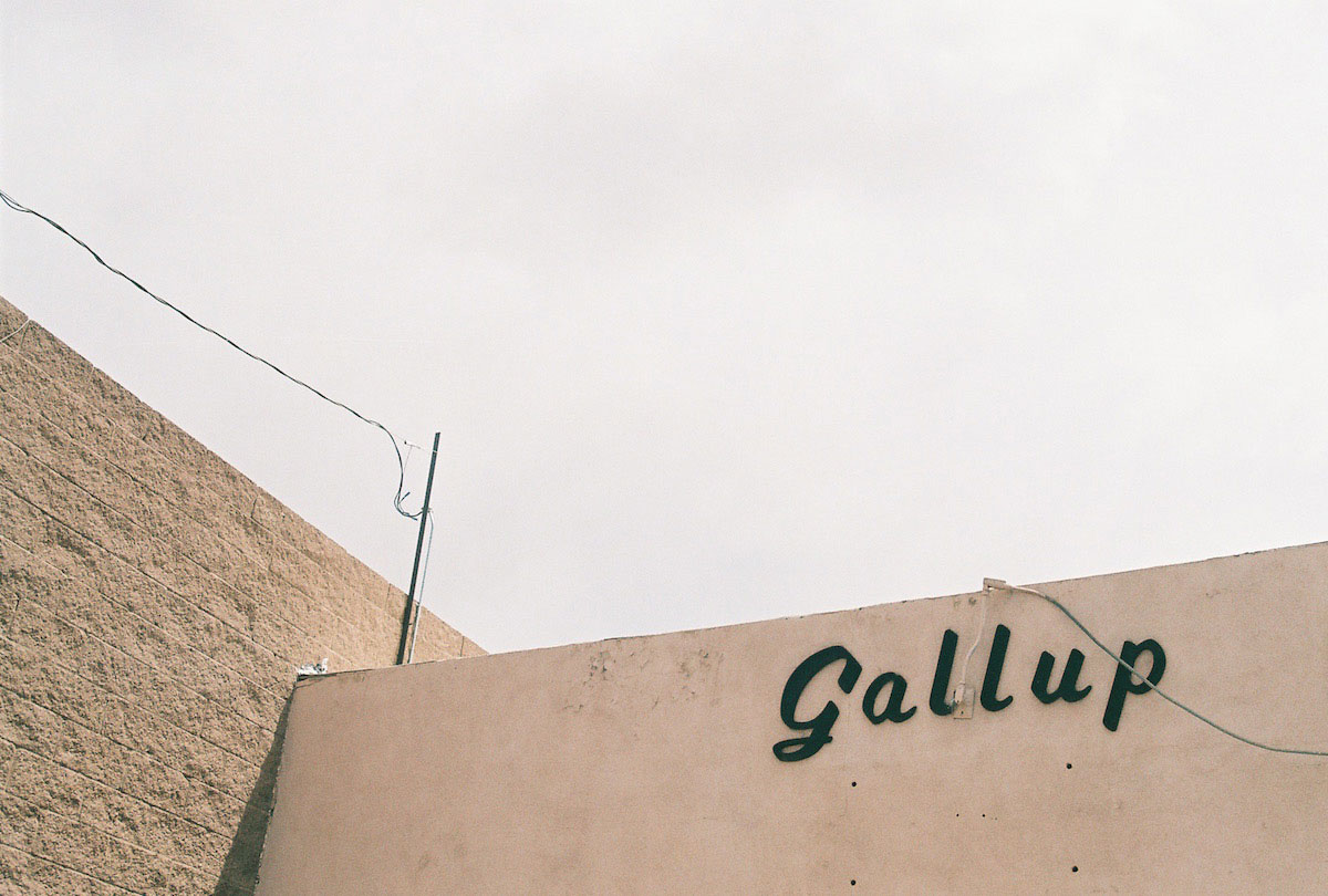 Lorena Lohr, Untitled (Gallup Sign), 2014. Printed 2018. Analogue Chromogenic Handprints. (Image size) 4.7 x 7 inches (Paper size) 8 x 10 inches. Edition 4 of  10.