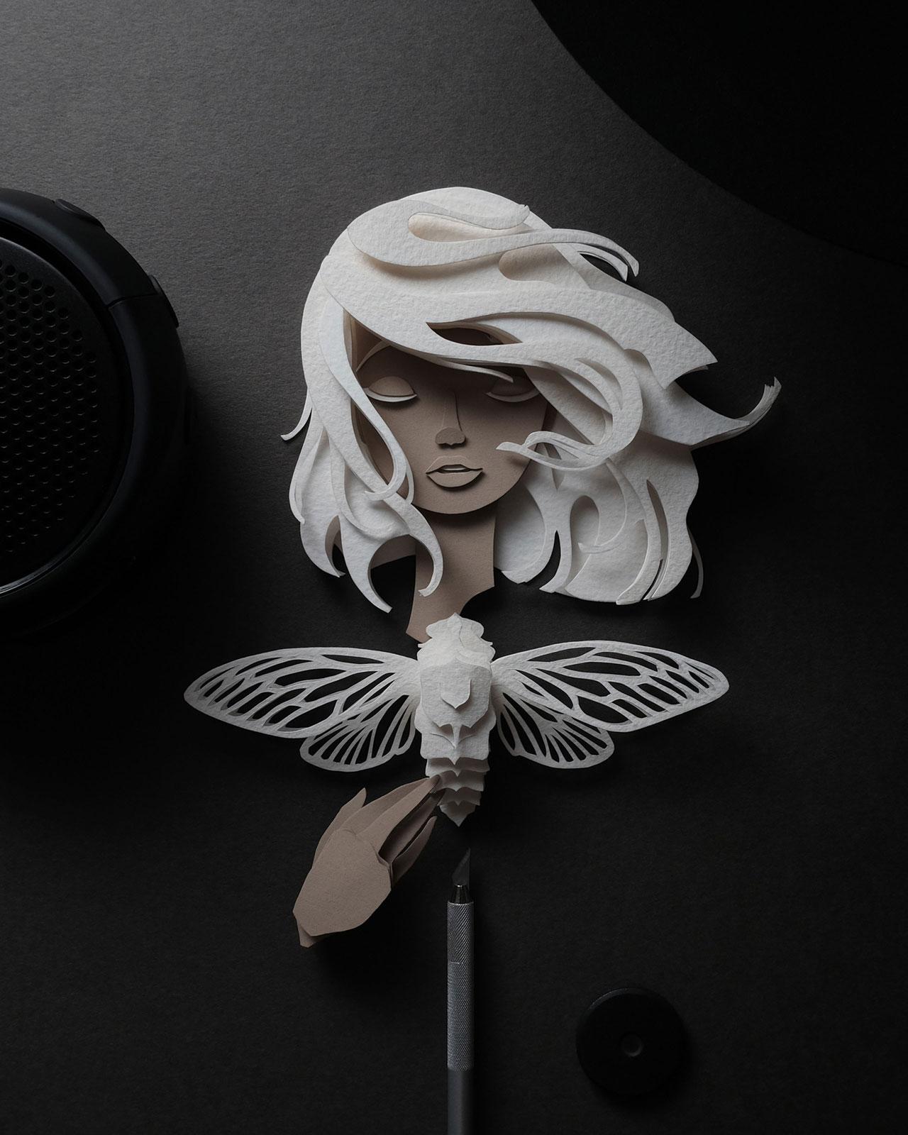 John Ed De Vera, 'Nausicaa' from Paper Cut Nymphs. ©John Ed De Vera.