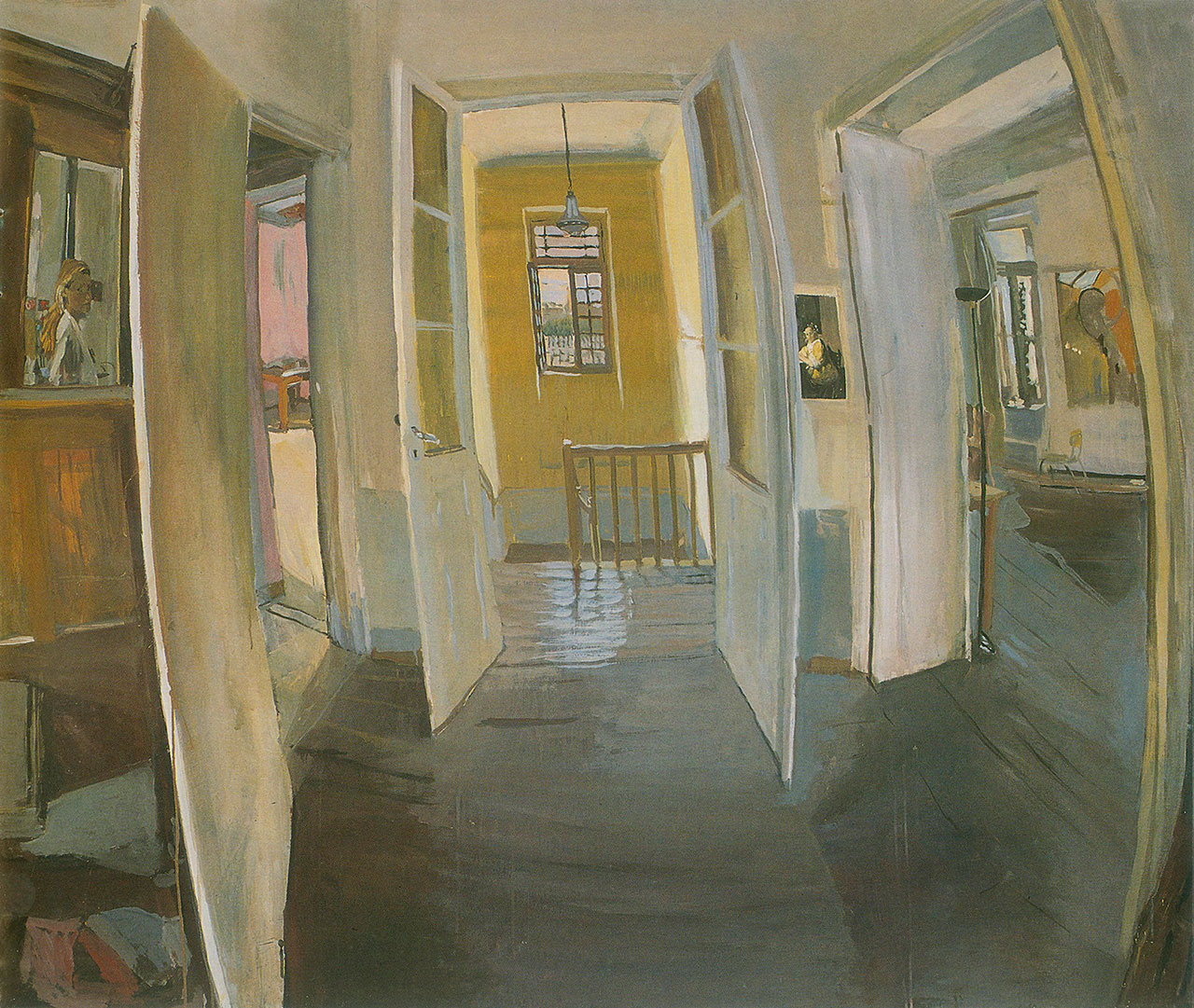Maria Filopoulou, The window, 1992. Oil on canvas, 165 x 204cm.