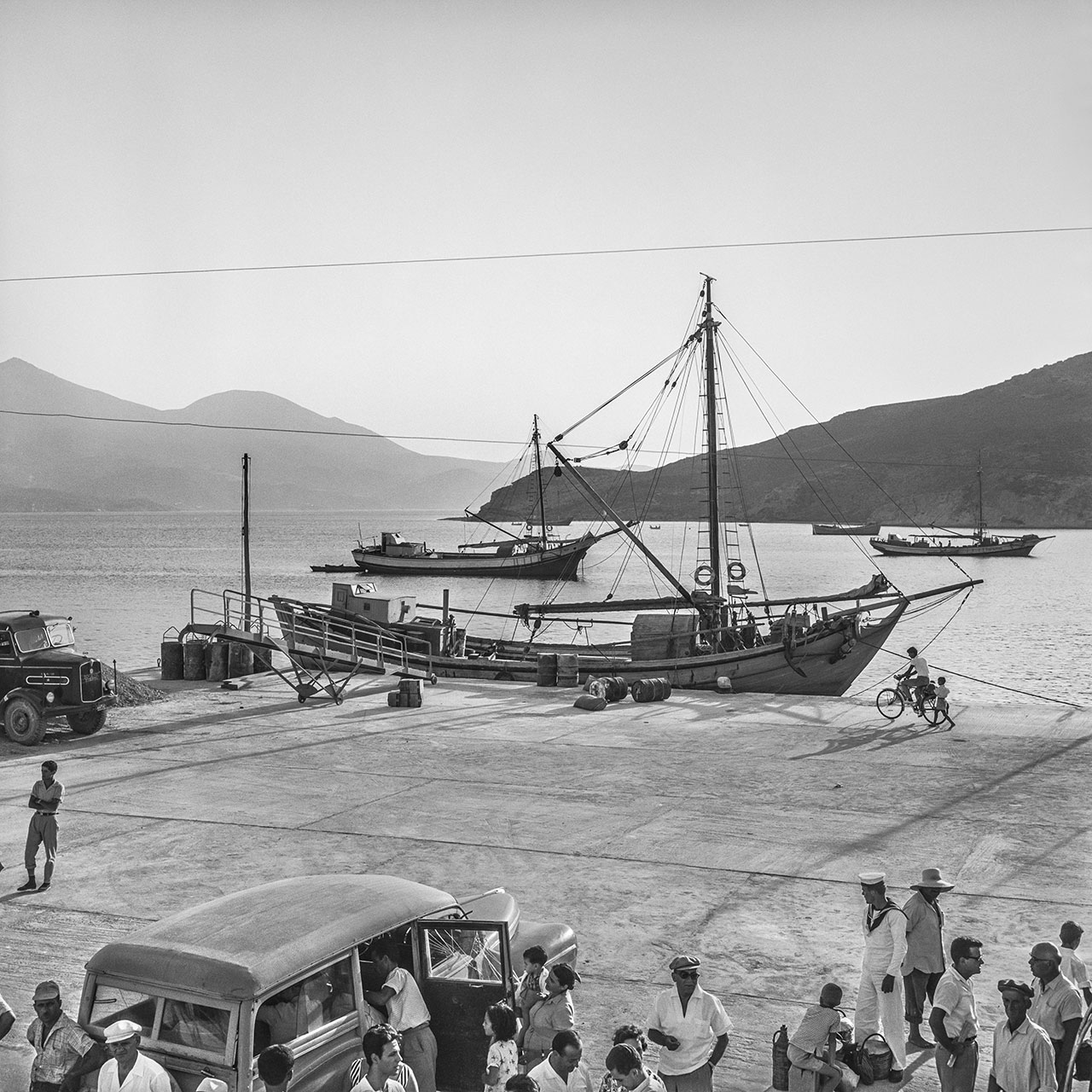 Milos, the Port of Adamas 1961. Photo © Robert McCabe.