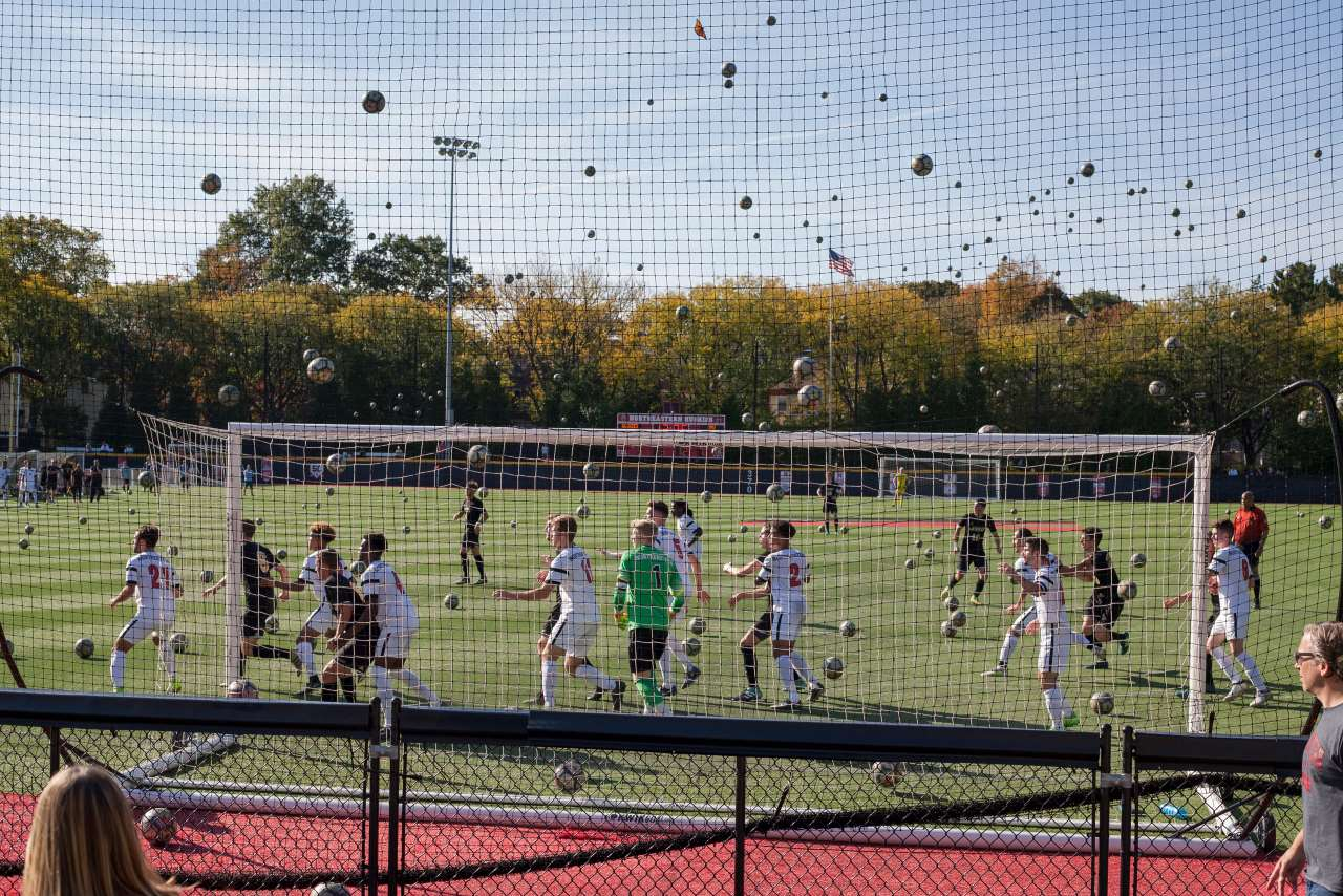 Pelle Cass, Soccer Game, Northeastern University from 'Crowded Field Series', 2017, Brookline, MA. © Pelle Cass.