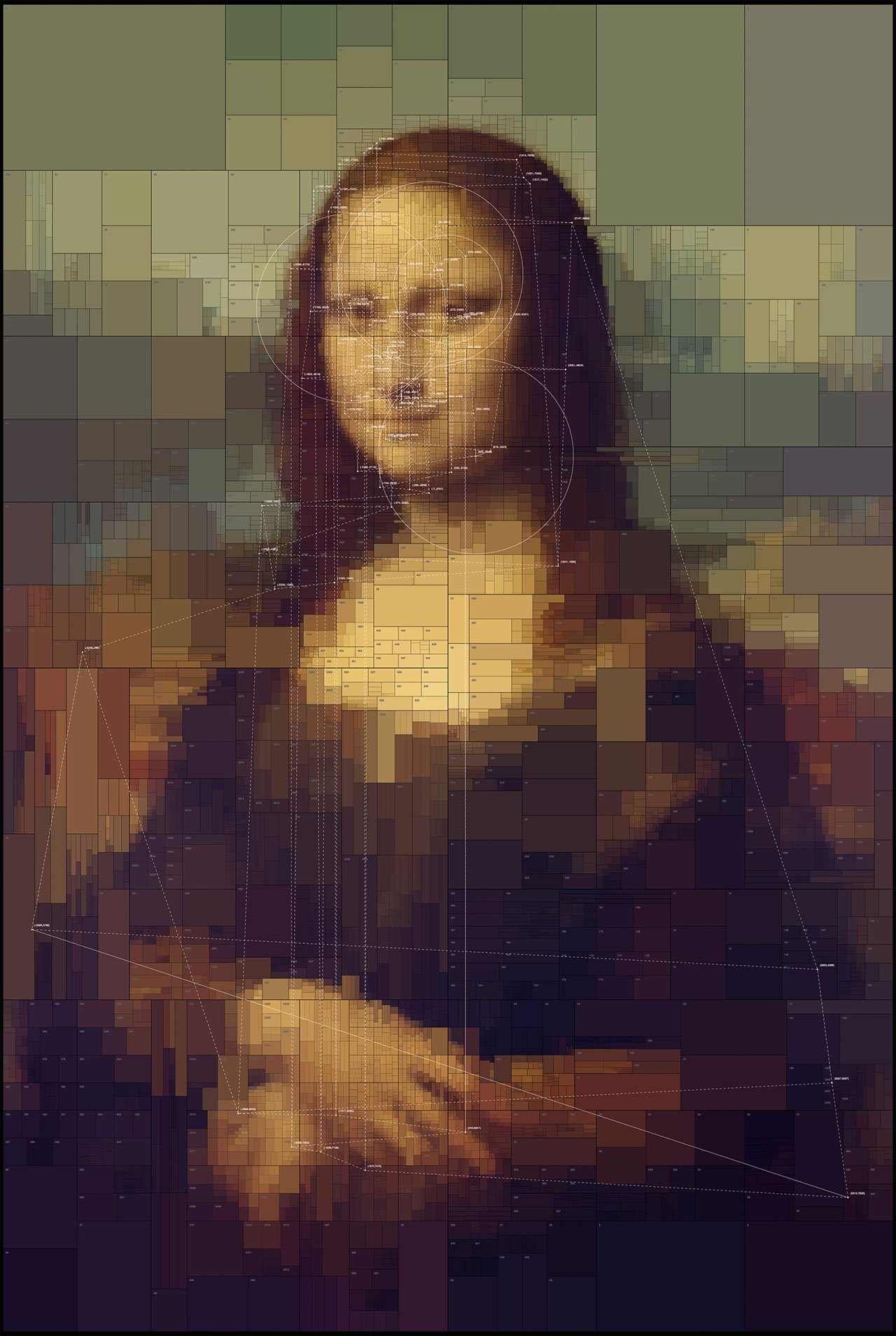 Mona Lisa, from Portraits series by Dimitris Ladopoulos (Original painting by Leonardo da Vinci, 1503–06, perhaps continuing until 1517).