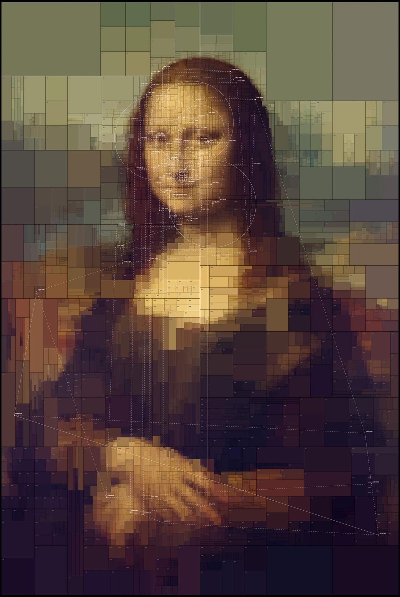 Mona Lisa,from Portraits series by Dimitris Ladopoulos (Original painting by Leonardo da Vinci, 1503–06, perhaps continuing until 1517).