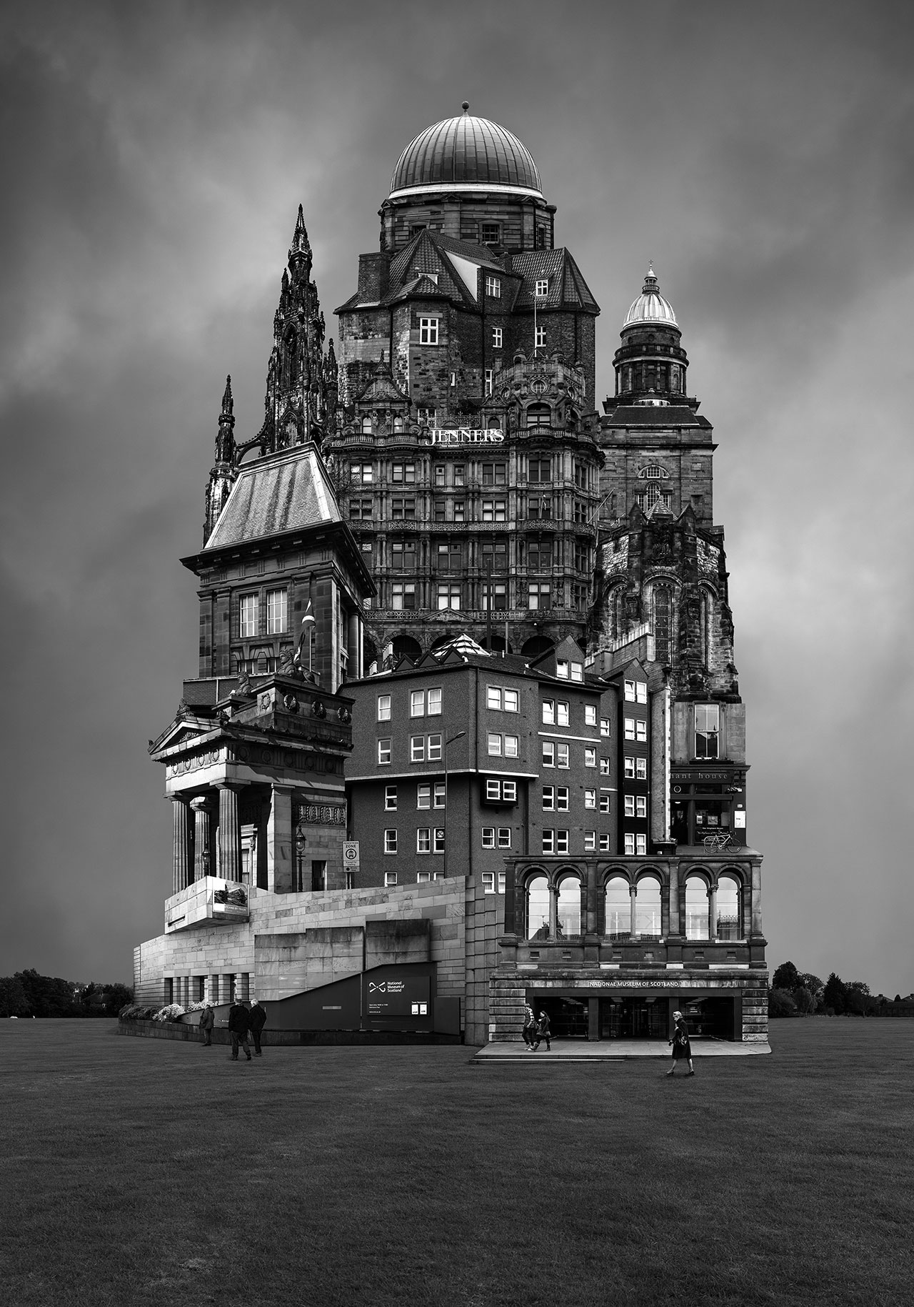 Beomsik Won,Archisculpture 034, 2015. Archival pigment print, 100x70 or 171x120cm.