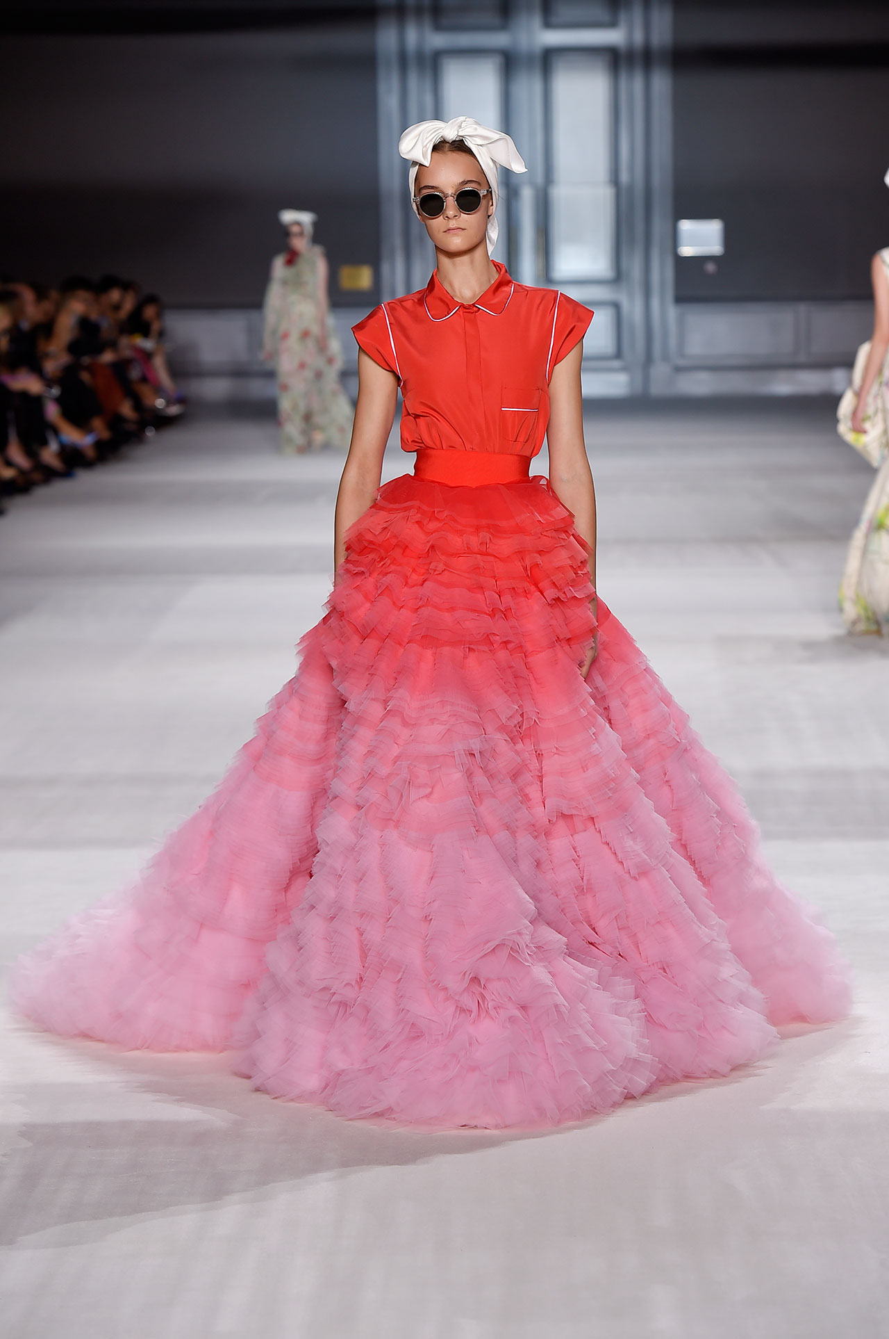 Giambattista Valli, Skirt and top, from Fall / Winter 2014–15 Couture collection, 2014, Tulle degradé, silk taffeta © Giambattista Valli.