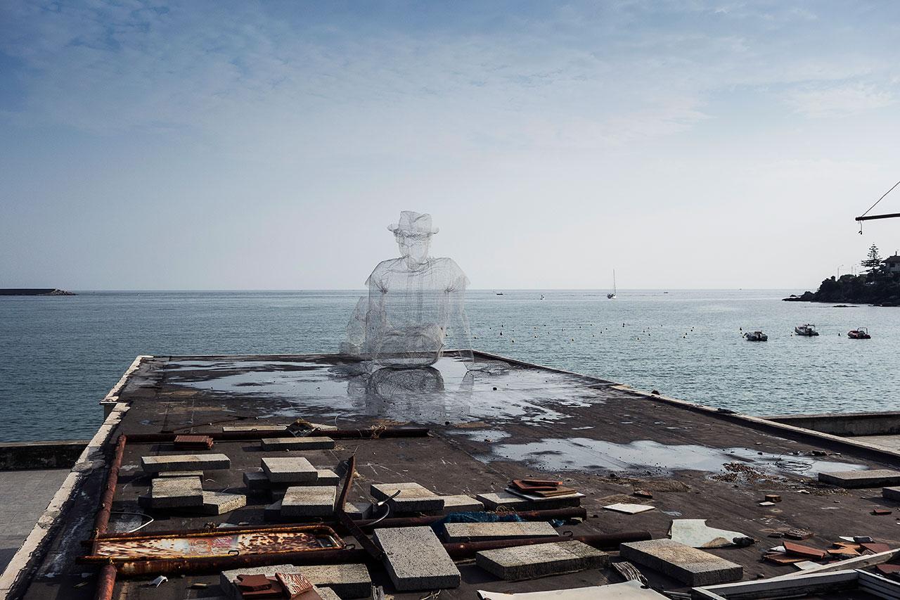 Edoardo Tresoldi,Pensieri (2014). Photo © Fabiano Caputo.