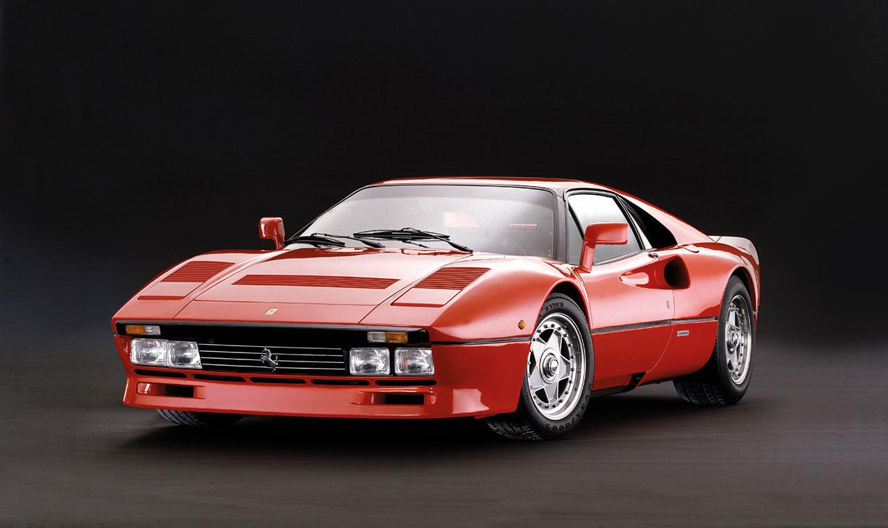 The Ferrari GTO model that was presented at the Geneva Motor Show in 1984.Photo courtesy of Ferrari.