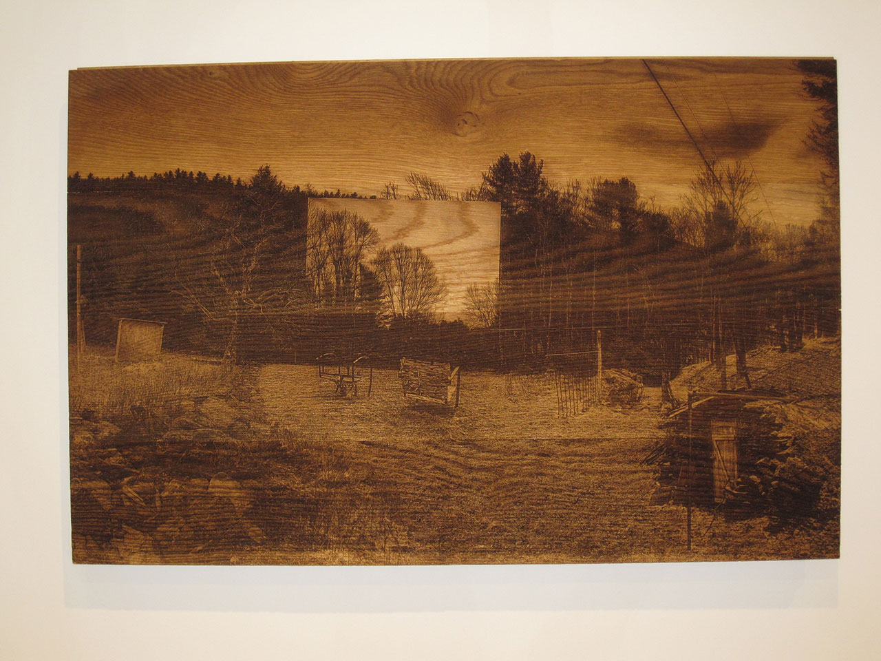 Theodoros Zafeiropoulos, The arch of an archival archive II, 2015, engraving on wood50 x 80 cm. Courtesy Nitra Gallery.