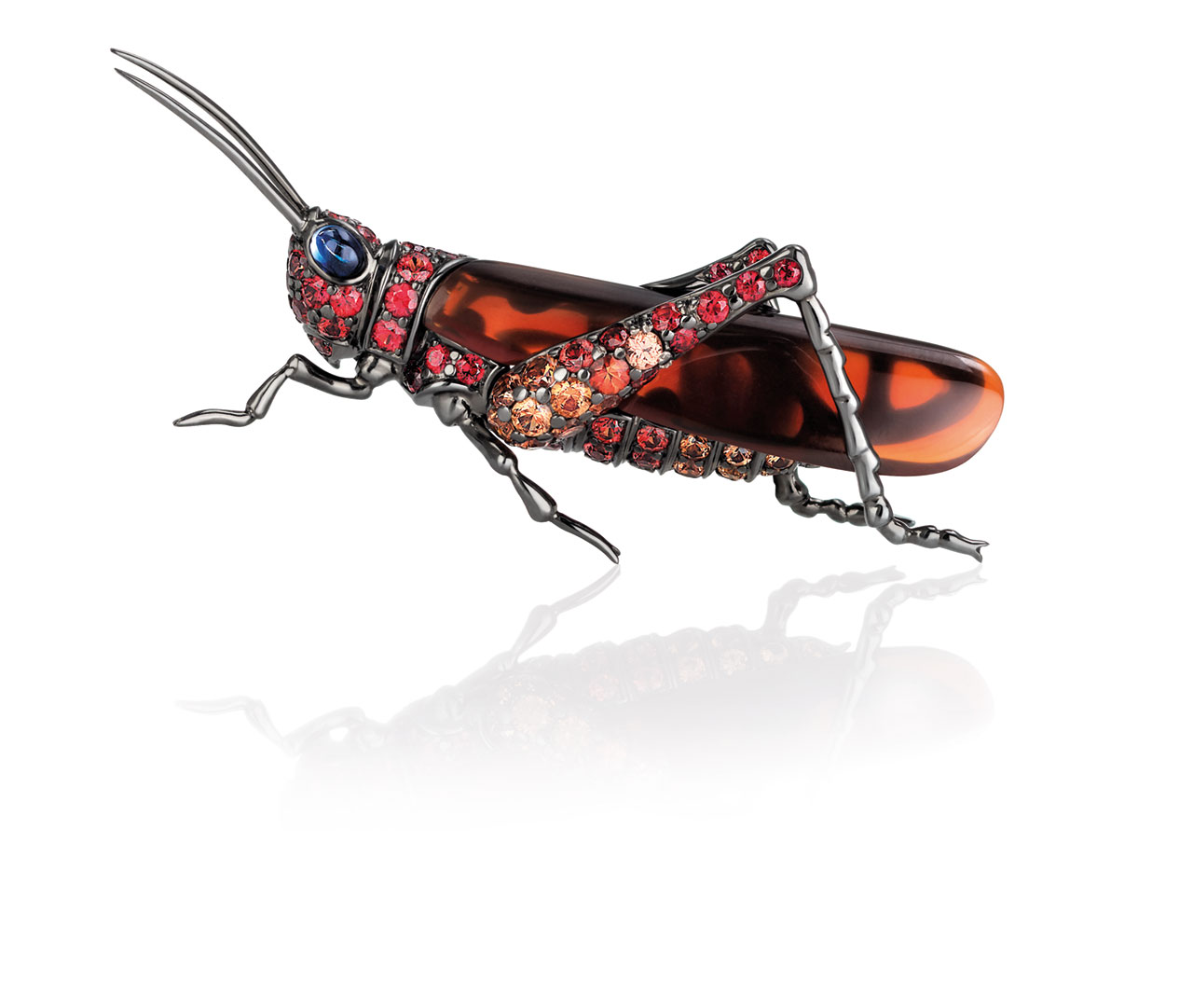 Roberto Coin, cricket brooch. Animalier Collection, 2015.