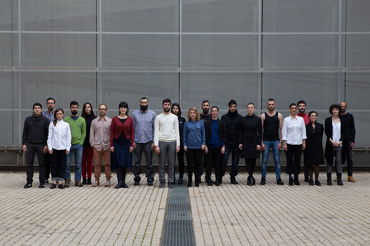 A group photo of artists participating in AS ONE. Photo © Natalia Tsoukalas.