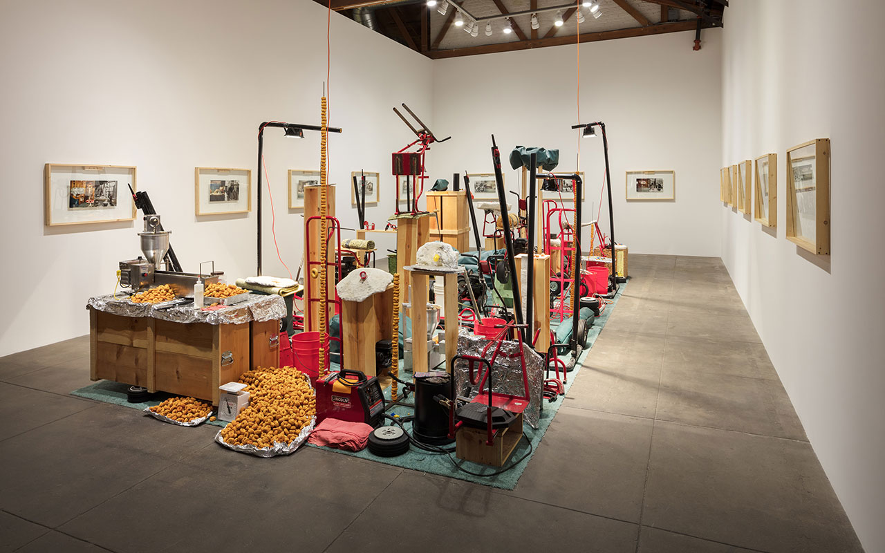 Jason Rhoades, My Brother / Brancuzi, 1995. Mixed media. Dimensions variable. Installation view, 'Jason Rhoades. Installations, 1994 – 2006'. Hauser & Wirth Los Angeles, 2017 © The Estate of Jason Rhoades. Courtesy Private Collection, Switzerland. Photo by Fredrik Nilsen.
