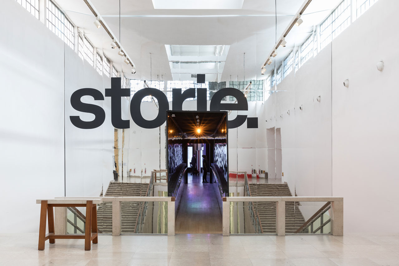 """""""Storie. Il design italiano"""" atLa Triennale di Milano, 2018. Exhibition design by Calvi Brambilla.Photo byGianluca Di Ioia."""