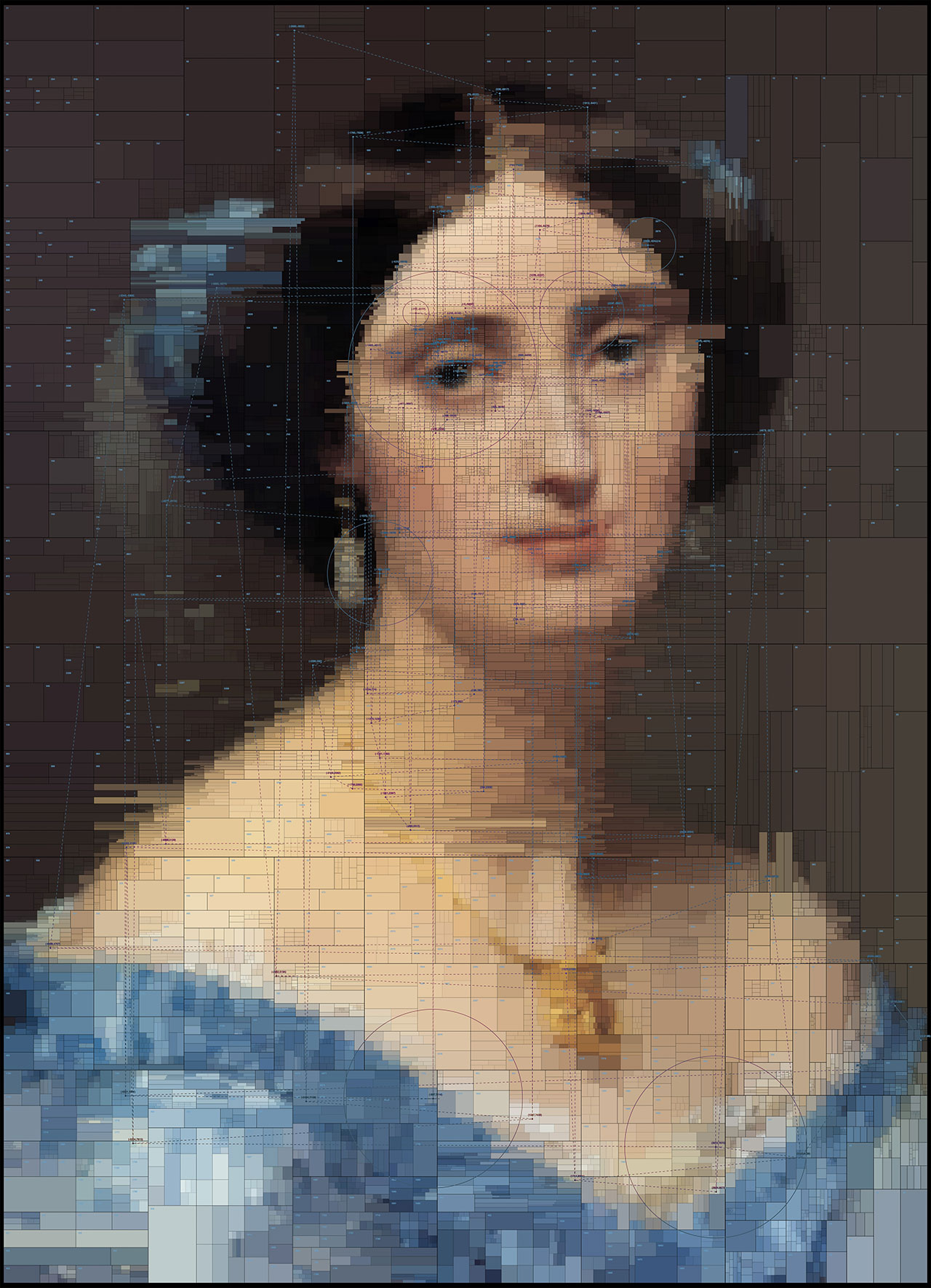 Albert, from Portraits series by Dimitris Ladopoulos (Original painting -The Princesse de BrogliebyJean-Auguste-Dominique Ingres,1851–53).