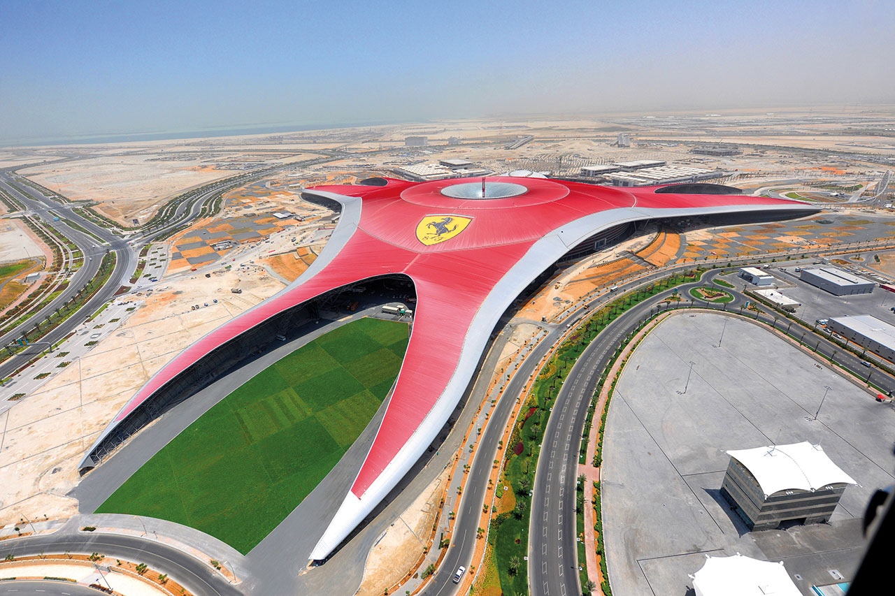 Ferrari World Abu Dhabi, 2010. Photo courtesy of Ferrari.