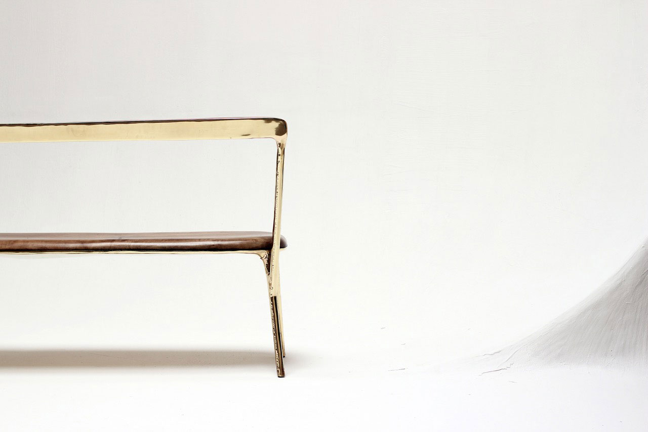 Studio Valentin Loellmann, Brass bench. Photo © Jonas Loellmann.