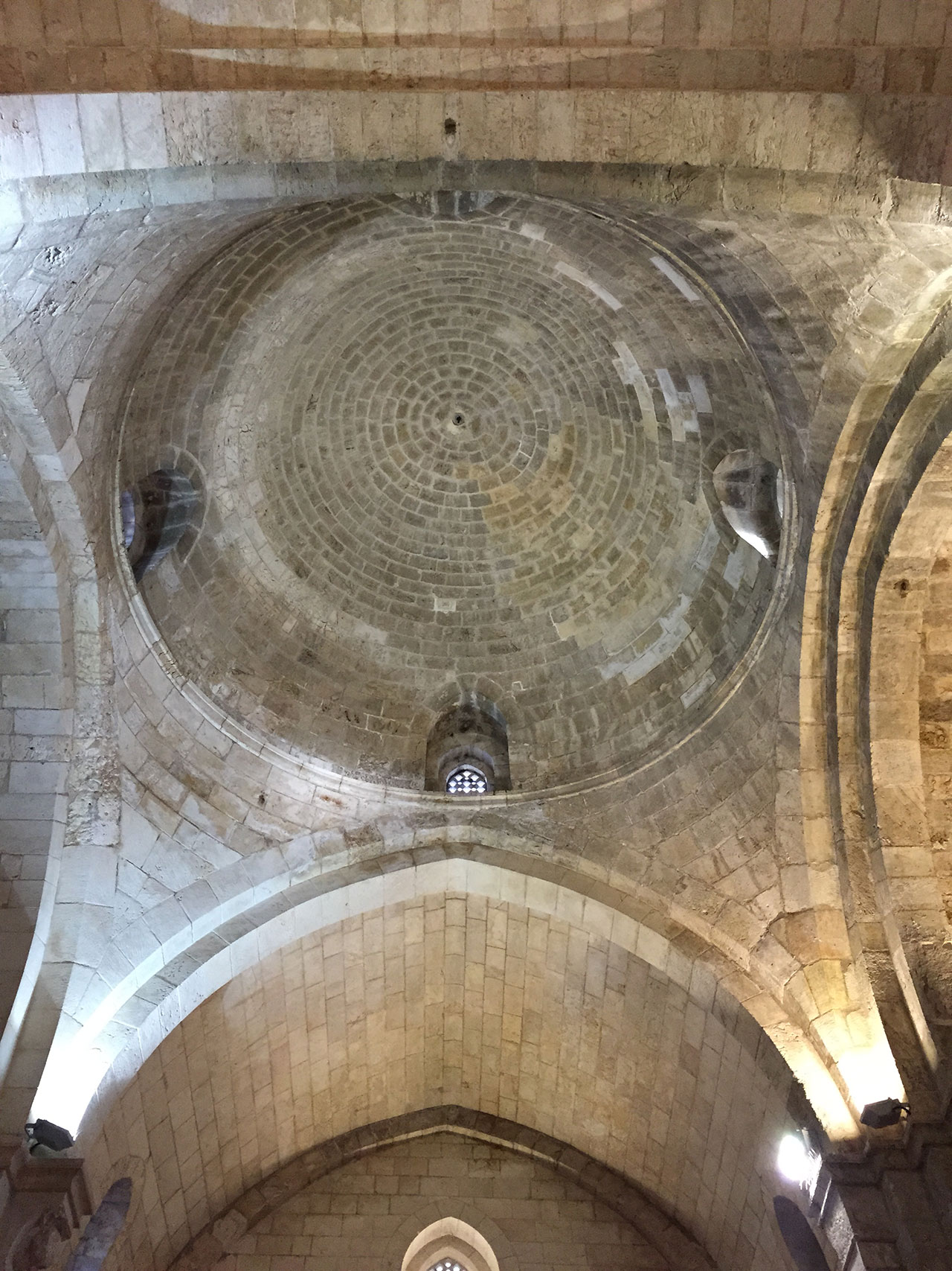 Saint Anne Church stone vault, Jerusalem. Photo by Mikaela Burstow.