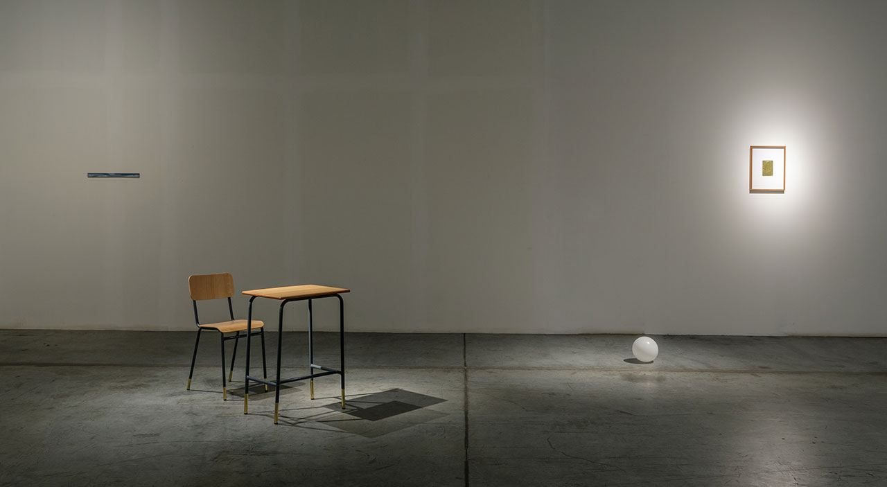 Stéphanie Saadé, The Shape of Distance. Installation view at Grey Noise gallery, Alserkal Avenue. Photo courtesy Alserkal Avenue.