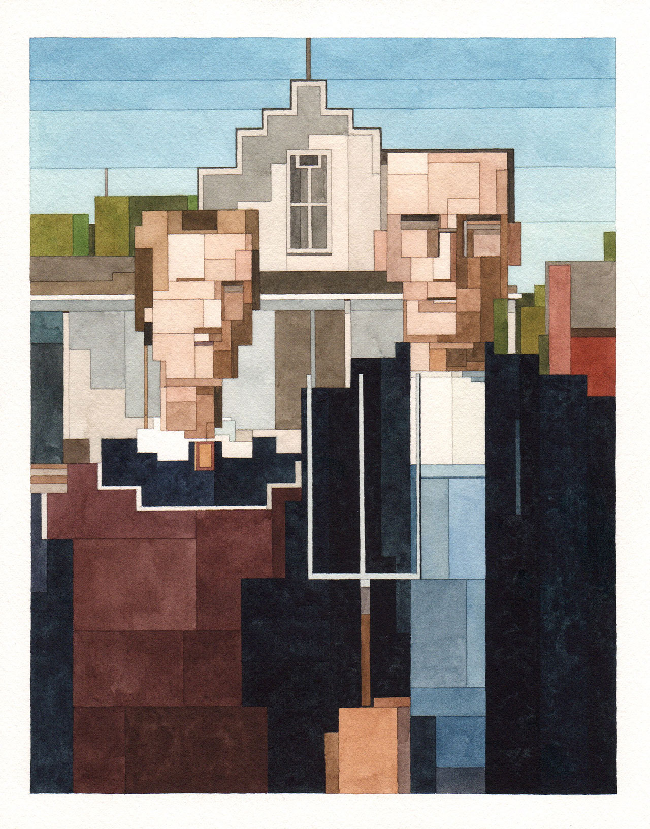 American Gothic, Art History 101 series by Adam Lister.(Original Painting by Grant Wood, 1930).