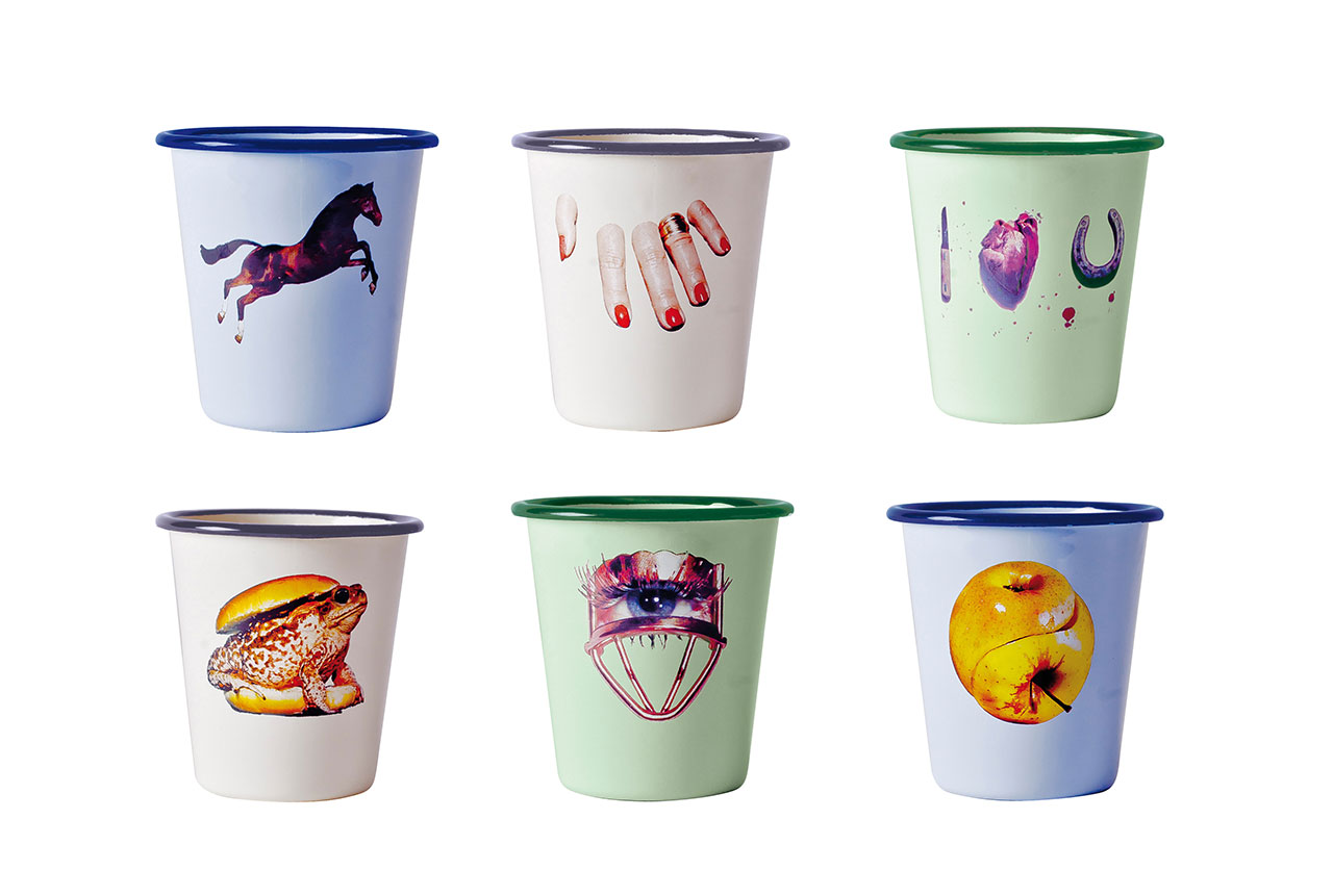 Seletti wears TOILETPAPER, Enamel Glasses. Photo © Studio Badini Createam Snc.
