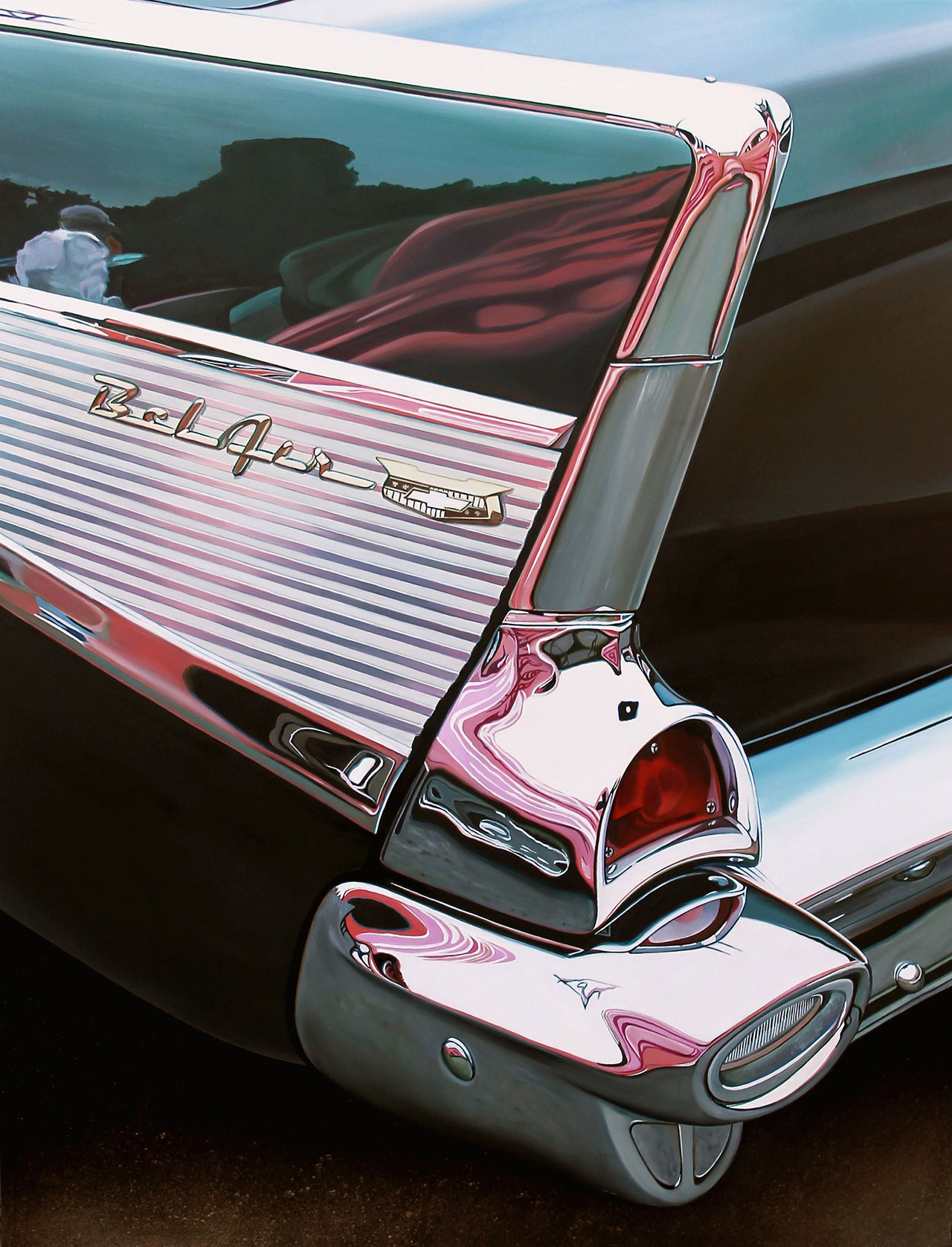 "Bel Air with Pink, 2013 oil on aluminum panel, 23 x 30""   © Cheryl Kelley, Courtesy of Bernarducci Meisel Gallery"