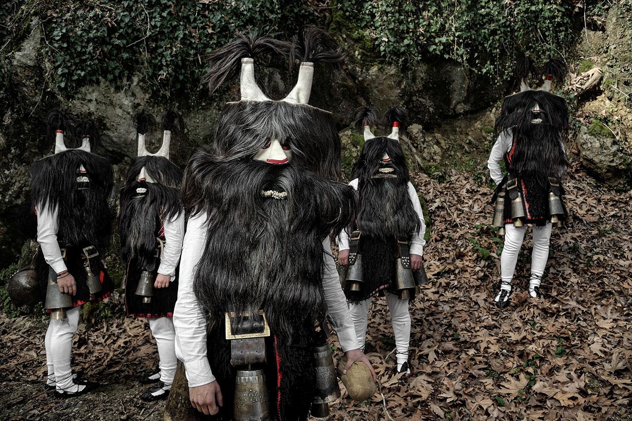 Faces + Masks series. Location: Kali Vrysi, Drama Prefecture, Greece. Photo © Nikos Vavdinoudis.