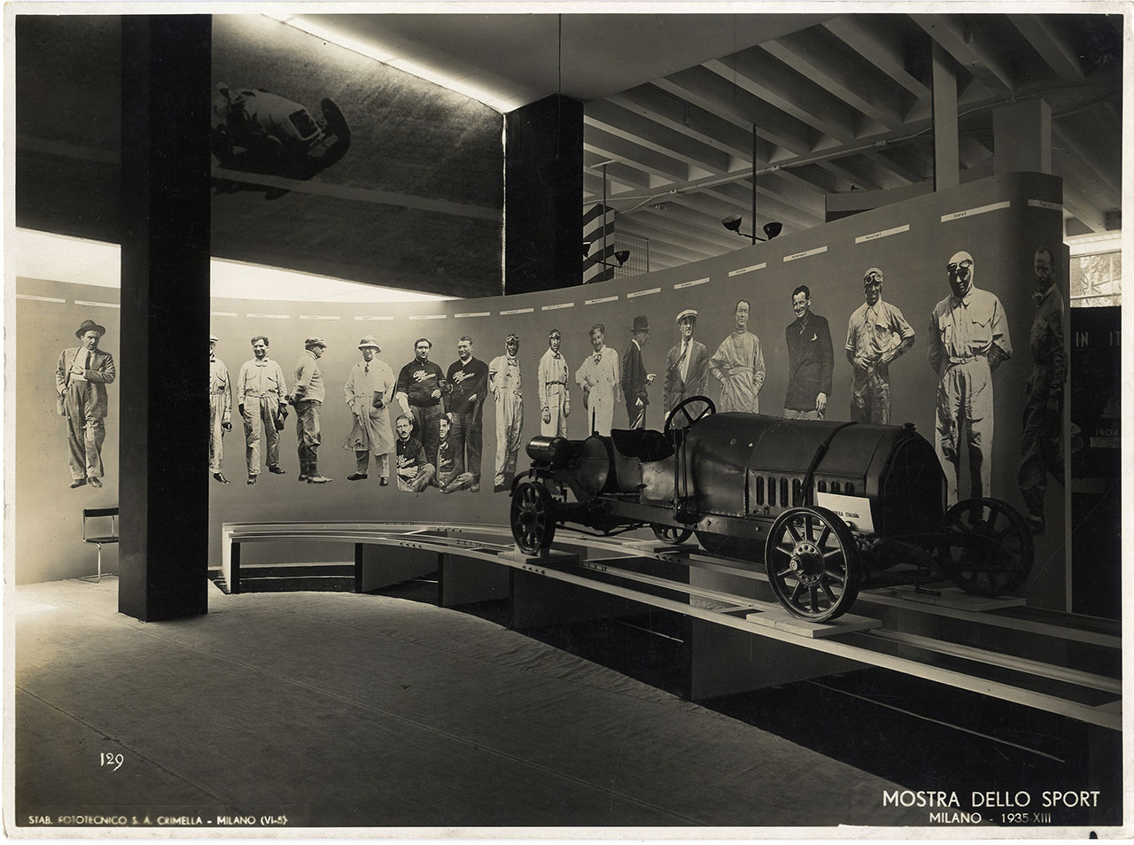 """Mostra nazionale dello sport"" (National exhibition of sport), Triennale di Milano, 1935. Set-up by studio BBPR.Photographic Archive © La Triennale di Milano. Photo: Crimella."
