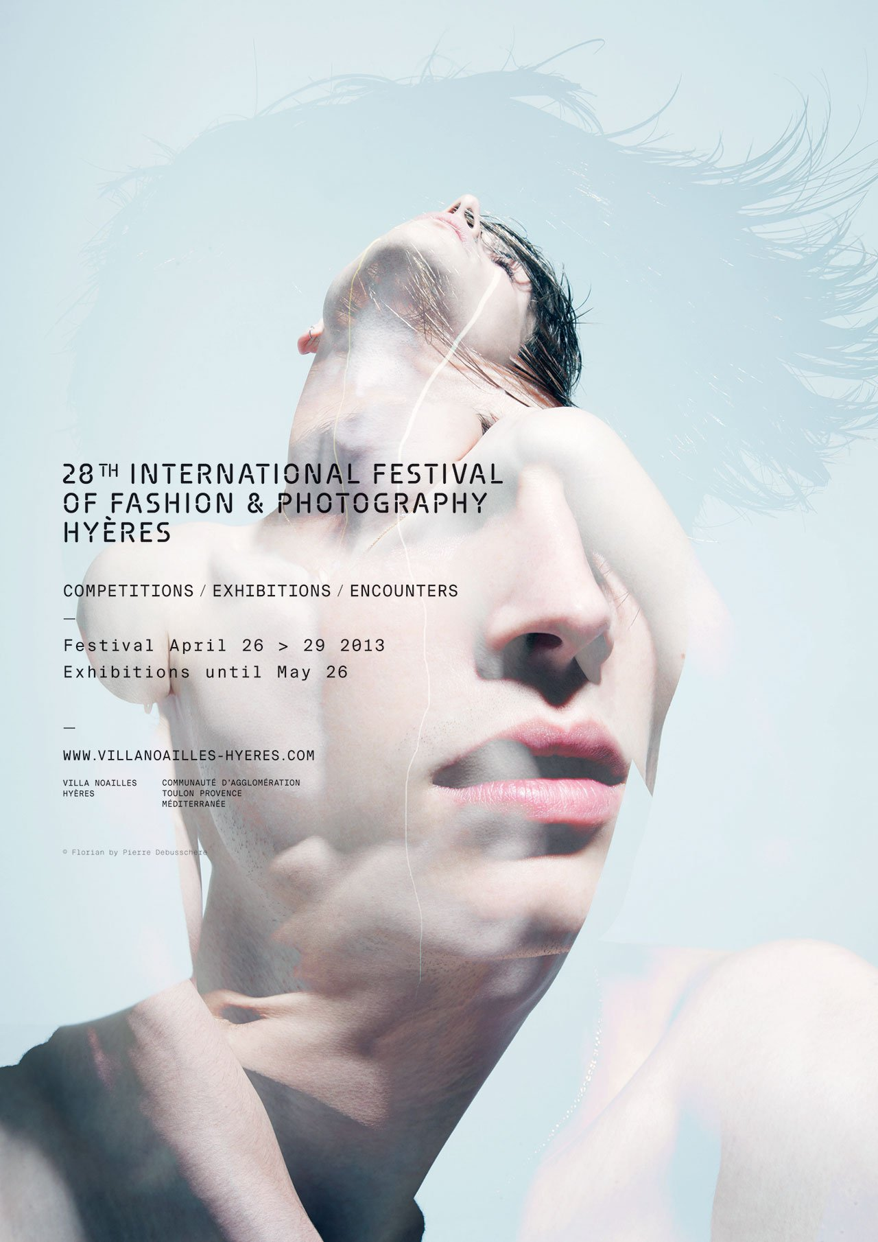The poster of HYÈRES 2013,  Florian © Pierre Debusschere.