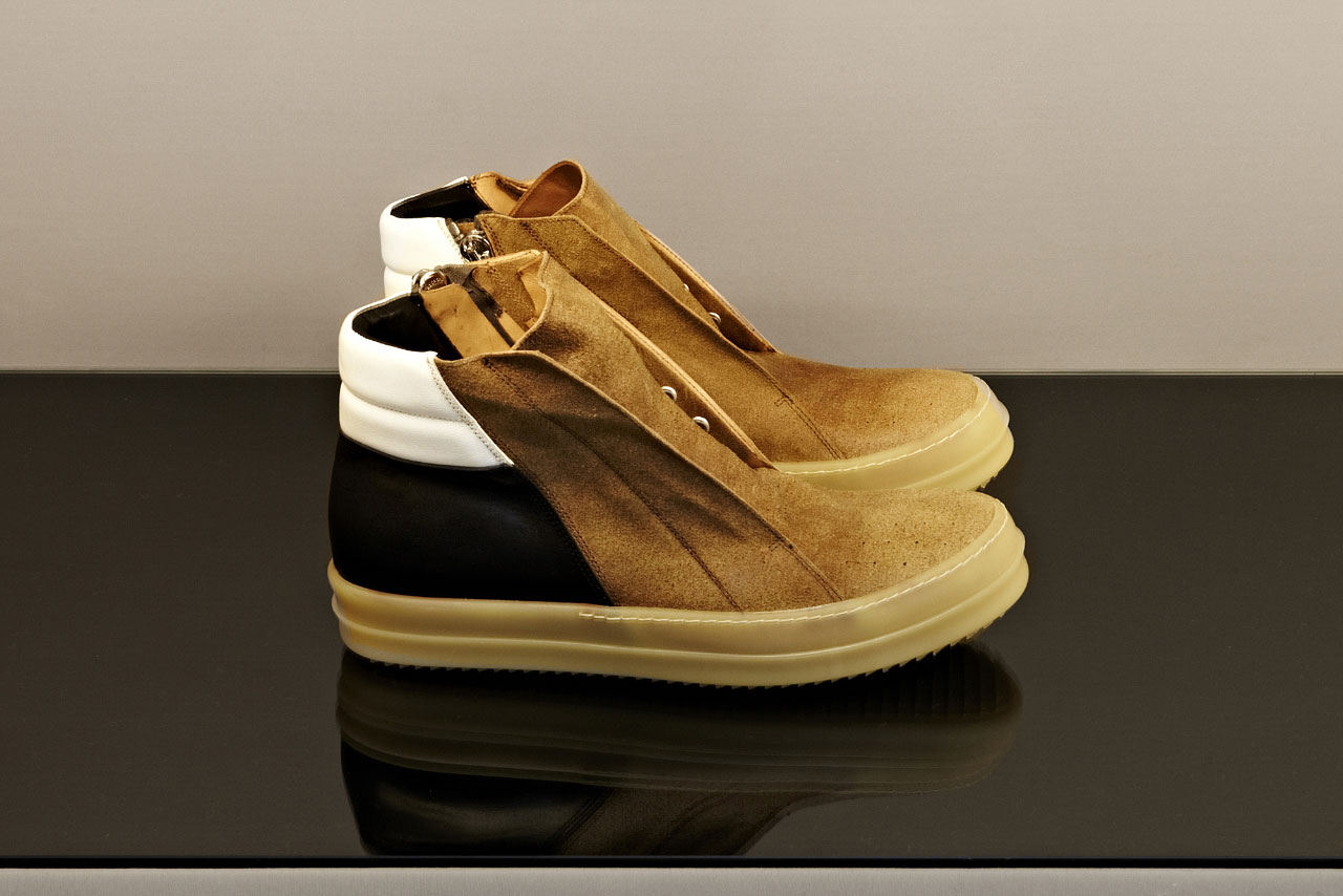 Rick Owens Men's Island Dunk Shoes From SS13 Collection In Honey, photo © Ben Benoliel / LN-CC