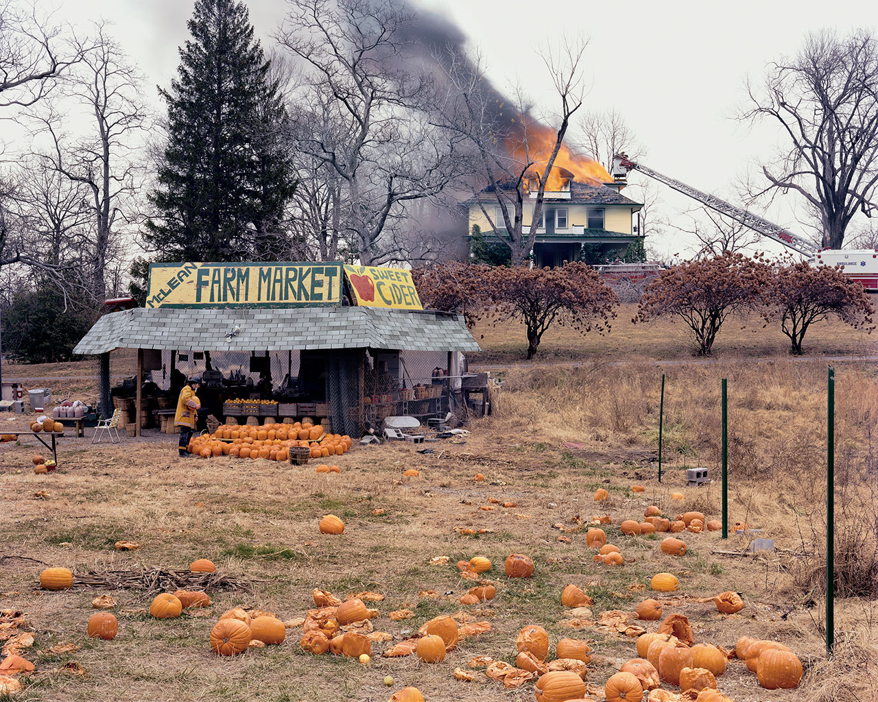 Joel Sternfeld, McLean, Virginia, December 1978, 1978 (printed 2003). Digital c-print, Edition of 10 + 2 AP, 106.7 x 133.3 cm / Paper122 x 148.6 cm / Framed 125.9 x 153 x 5.7 cm. Zabludowicz Collection © Joel Sternfeld; Courtesy of the artist and Luhring Augustine, New York.