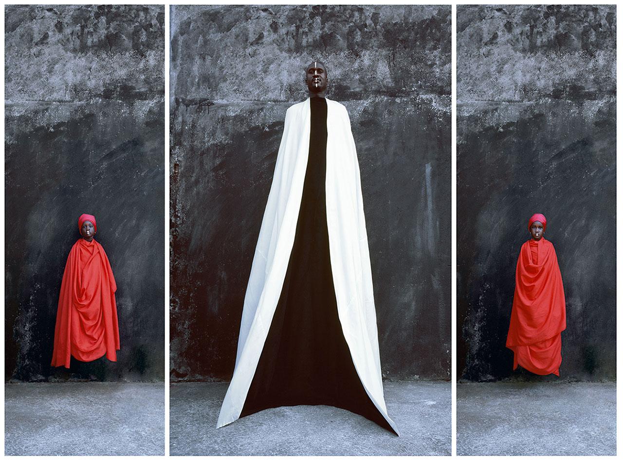 Maïmouna Guerresi,Mohamed & Daugther, 2009, Lambda Print, 200x 80 cm, 200x125 cm,200x80 cm. Copyright© Maïmouna Guerresi,courtesyMariane Ibrahim Gallery-Seattle&Matèria Gallery-Rome.