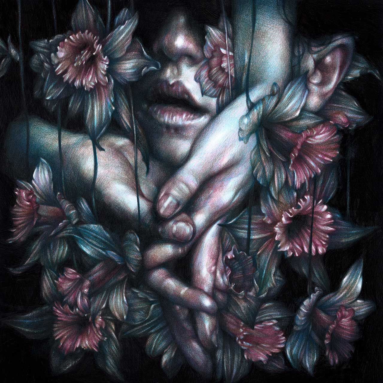 Marco Mazzoni, The Rescue, 2015. Colored pencils on paper © Marco Mazzoni.