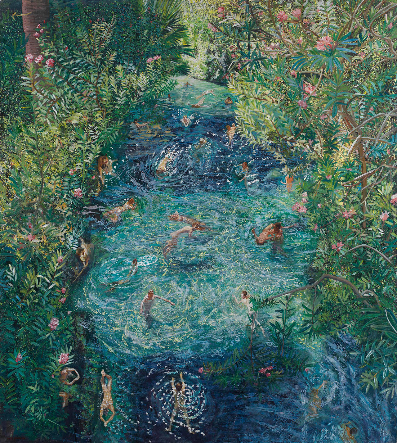 Maria Filopoulou, Ancient Pool, Ierapolis, 2009. Oil on canvas, 180 x 200cm.