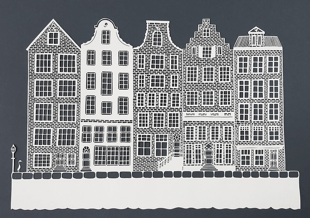 Pippa Dyrlaga,Amsterdam houses, 2017 ©Pippa Dyrlaga.
