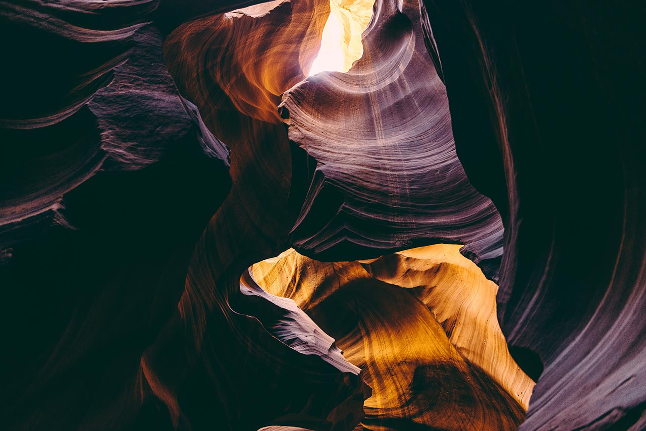 Antelope Canyon, United States. Photo by Julian Bialowas, from 'The Great Wide Open', © Gestalten 2015.