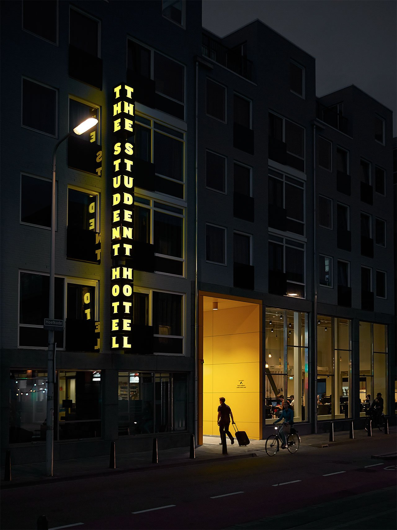 The Student Hotel Amsterdam The Hague. Entrance, photo © Kasia Gatkowska x …,staat.