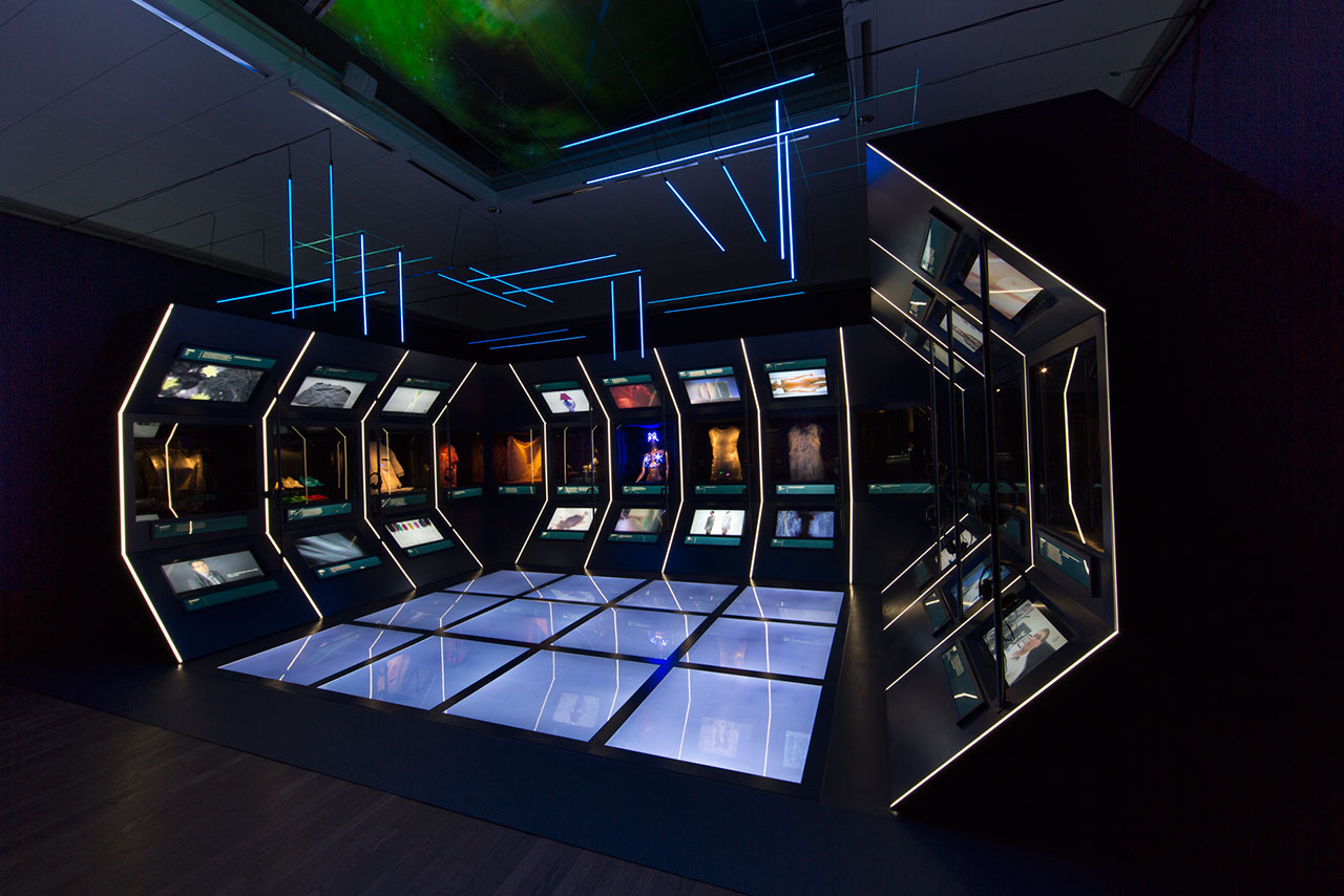 Utopian Bodies, installation shot of Technology gallery. Photo by Mattias Lindbäck.