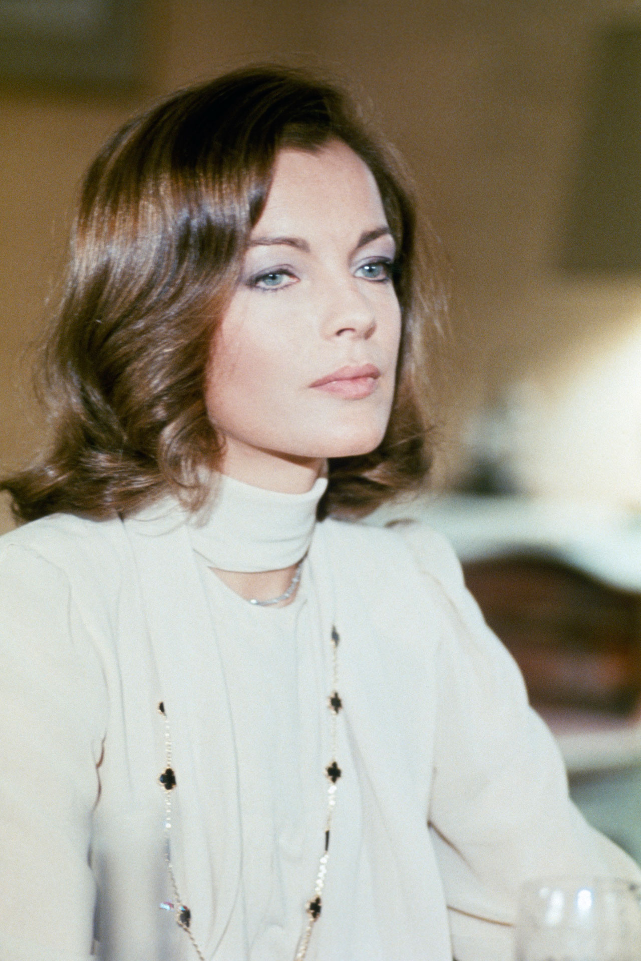 Actress Romy Schneider in 'Love at the Top', film by Michel Deville, 1974. Photo © Leonard de Raemy / Sygma / Getty Images.