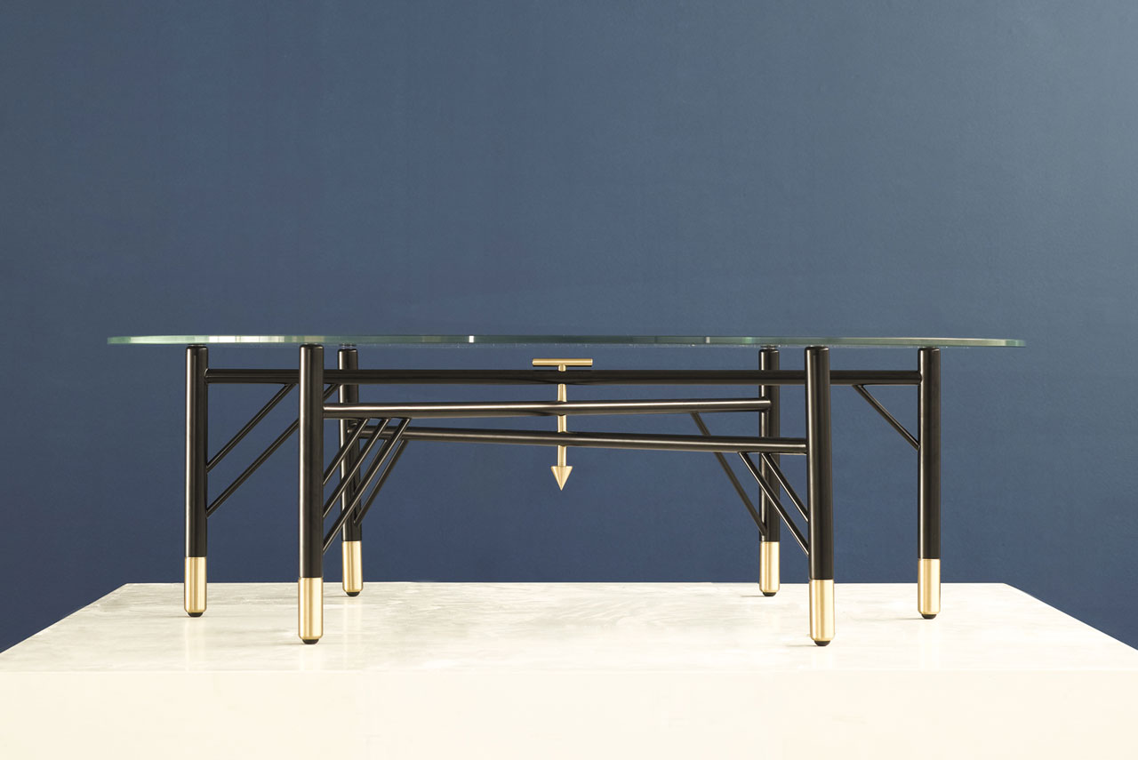 A coffee-table from the LOULOU/HODA series of products by david/nicolas for Art Factum Gallery Beirut. The collection is inspired by the furniture of the designers' grandmothers' houses.