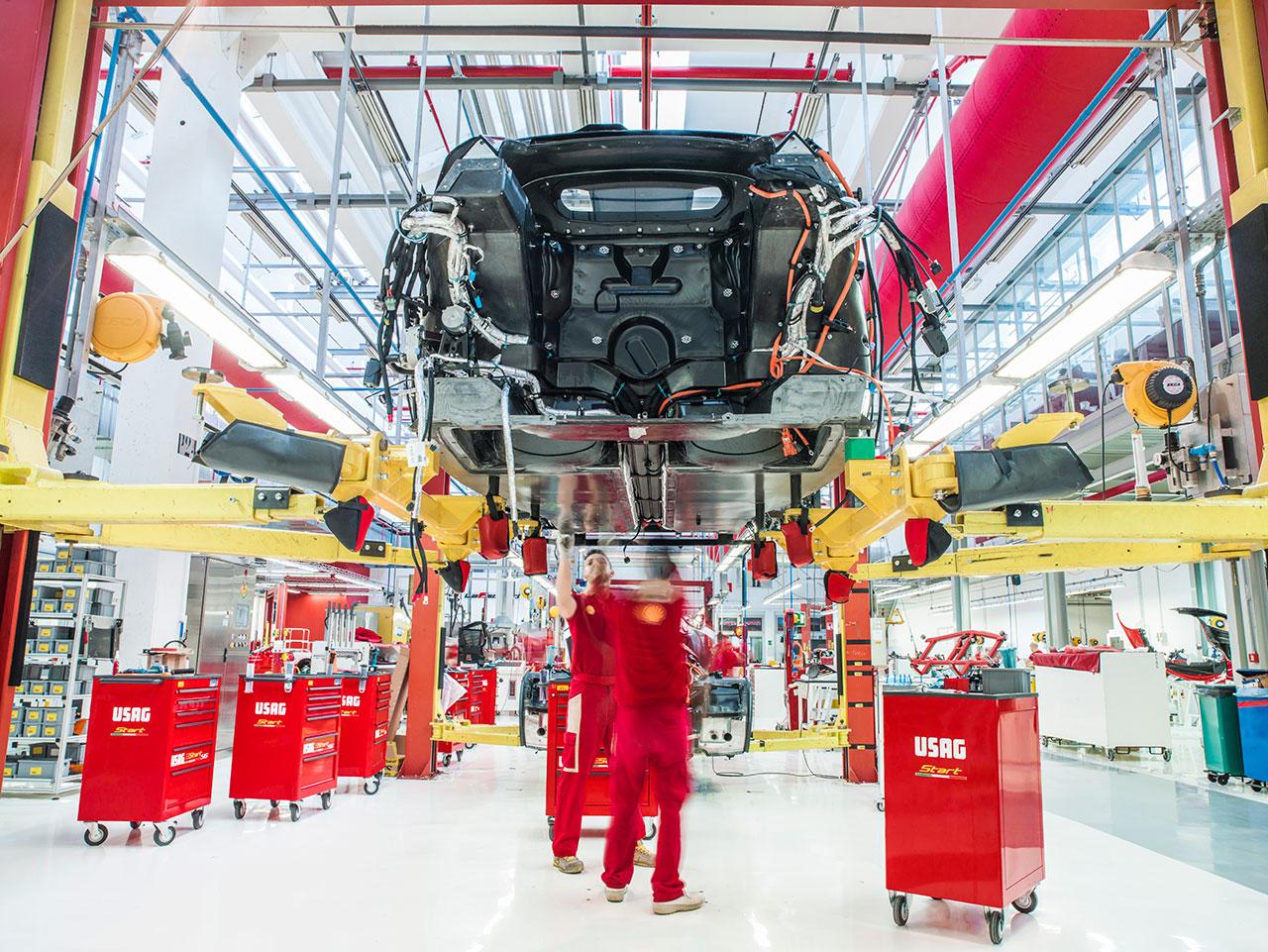 LaFerrari in production. Photo courtesy of Ferrari.