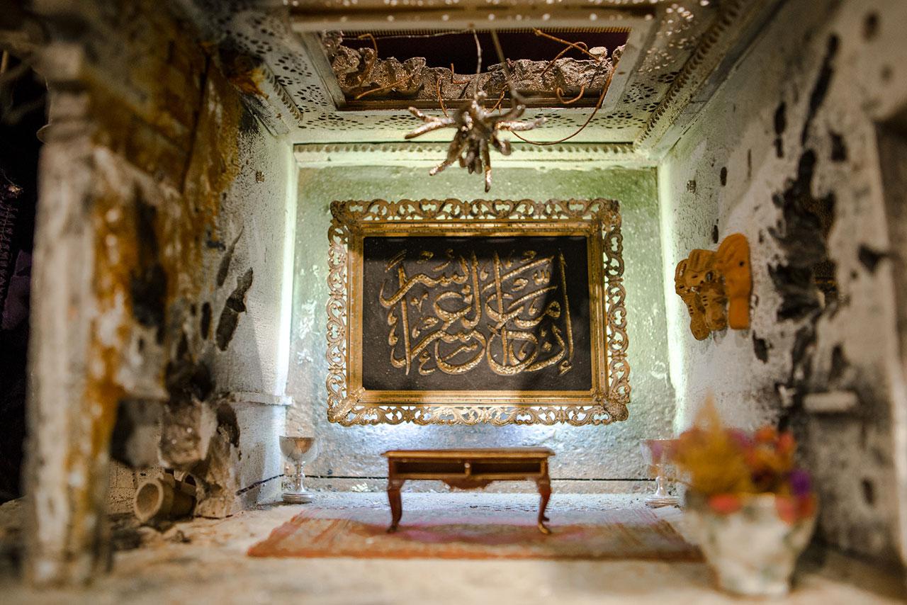 BADR FAMILY: A Bombed Home. Photo by Anisha Sisodia.