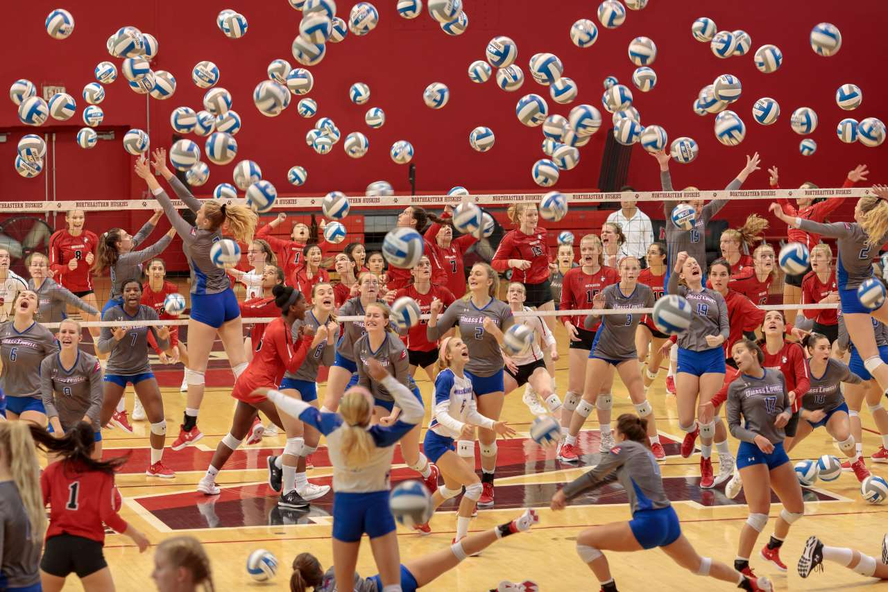 Pelle Cass, Volleyball at Northeastern University from 'Crowded Field Series'. © Pelle Cass.