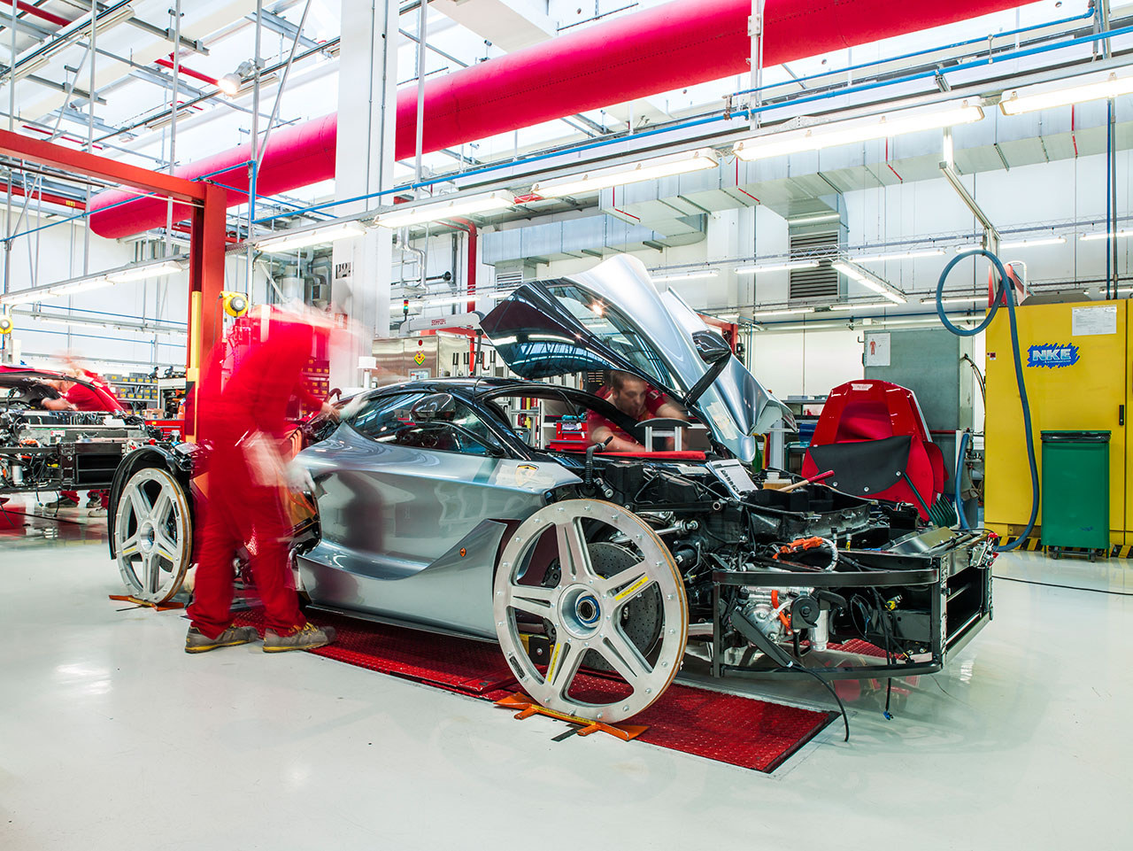 LaFerrari in production. Photo courtesy of Ferrari.
